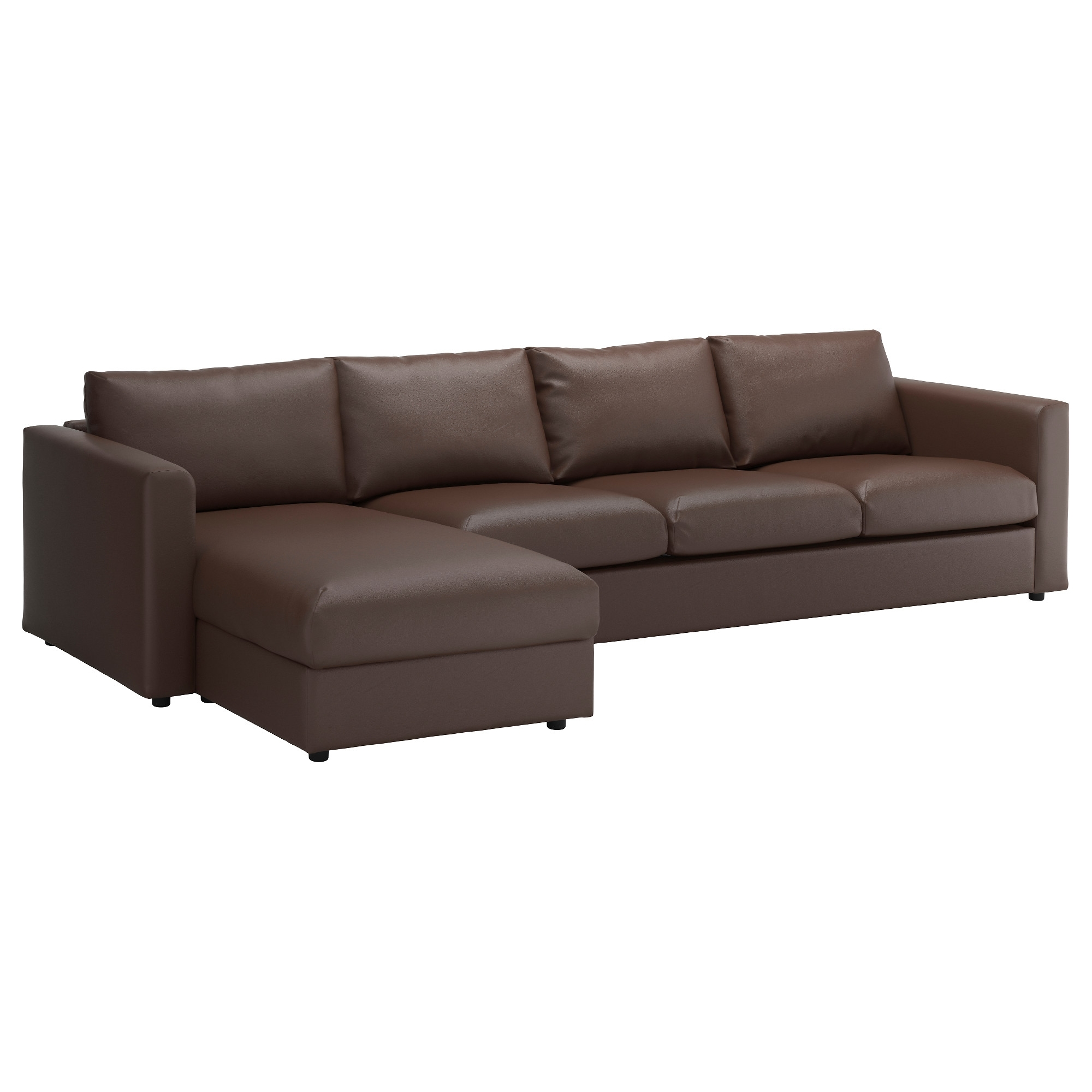 4 Seat Leather Sofas In Trendy Vimle Sectional, 4 Seat – With Chaise/farsta Black – Ikea (View 3 of 20)
