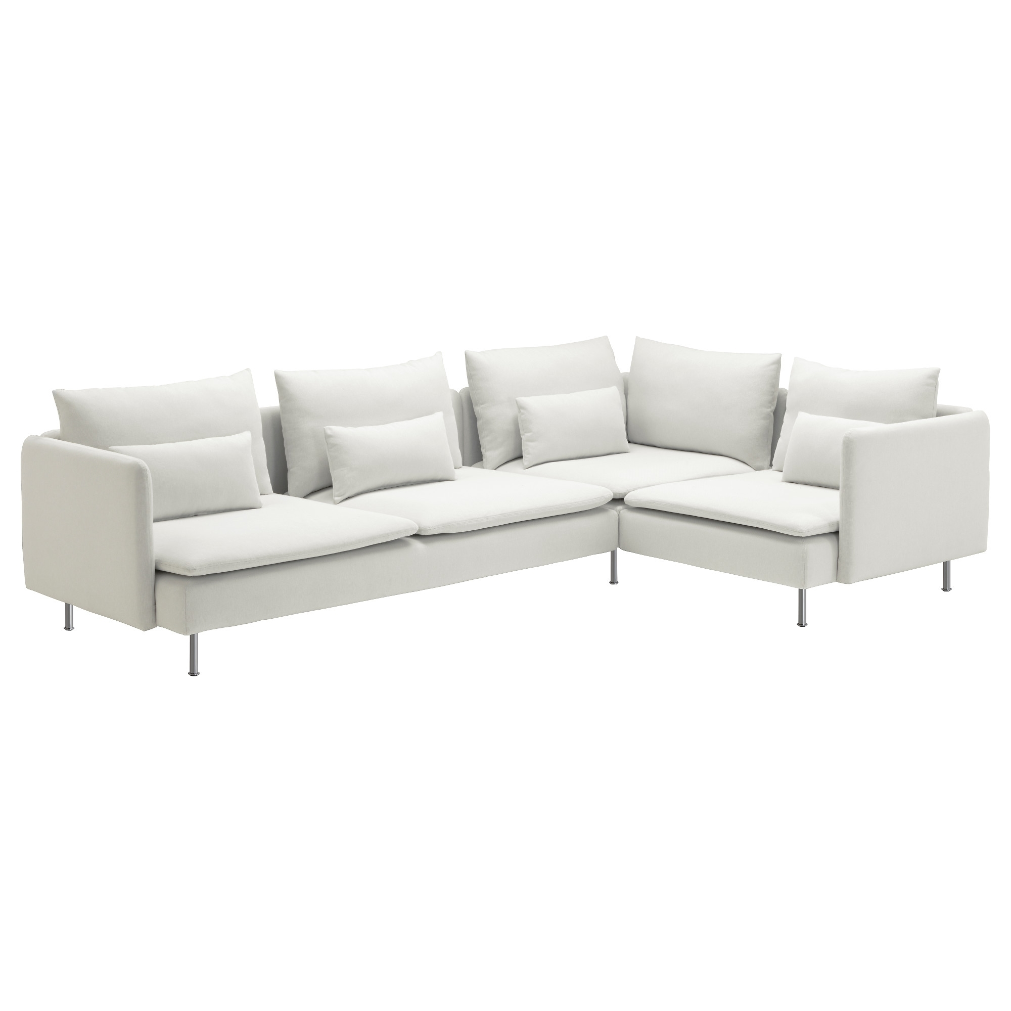 4 Seat Sofas Intended For Most Popular Söderhamn Sectional, 4 Seat Corner – Samsta Light Pink – Ikea (View 13 of 20)