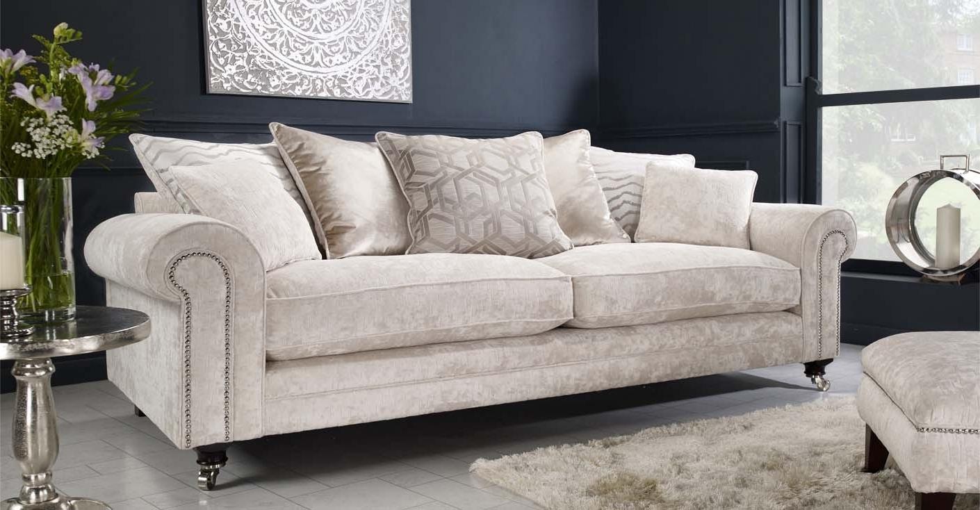 4 Seater Sofas Regarding Preferred Pillow 4 Seater Sofa (View 8 of 20)