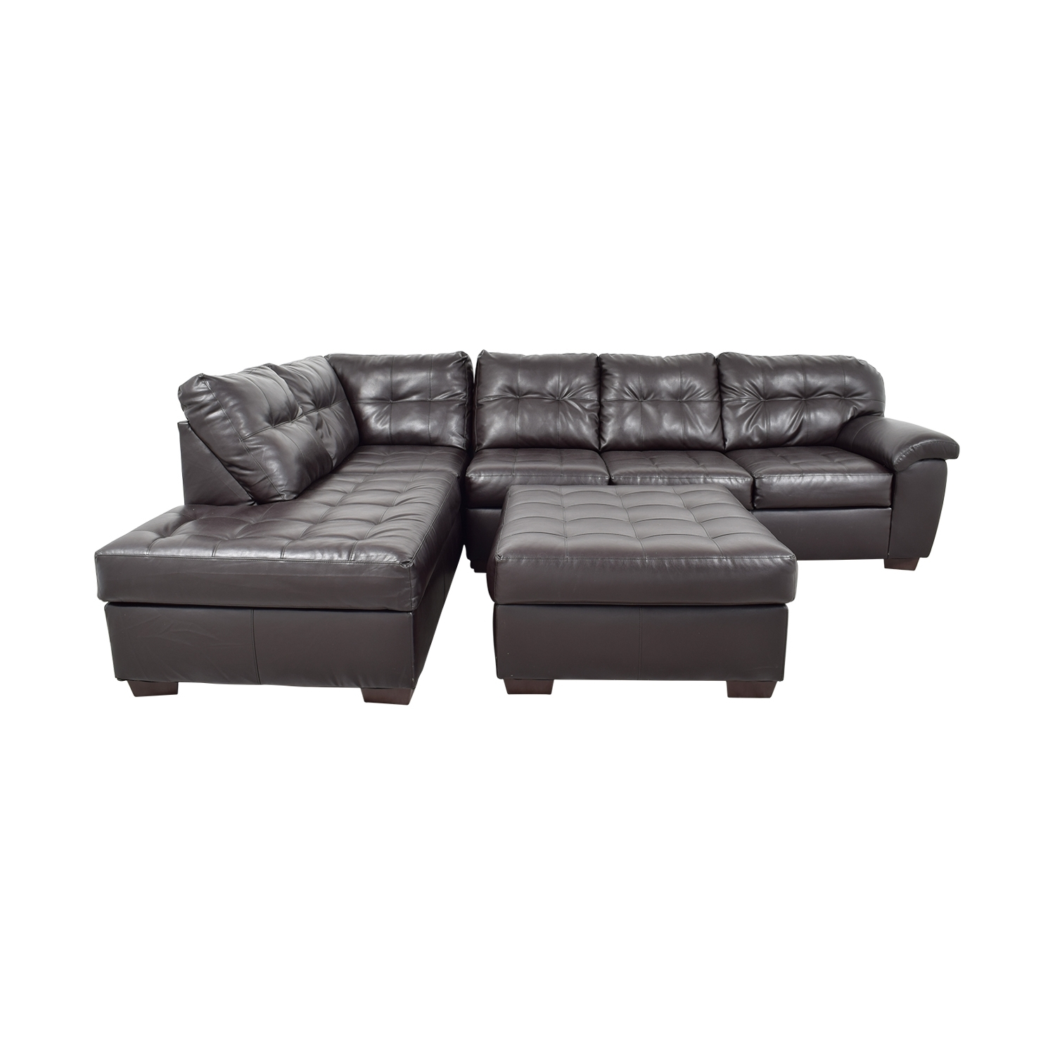 [%47% Off – Simmons Simmons Brown Leather Sectional With Ottoman / Sofas With Most Current Simmons Chaise Sofas|Simmons Chaise Sofas For Most Up To Date 47% Off – Simmons Simmons Brown Leather Sectional With Ottoman / Sofas|Famous Simmons Chaise Sofas Within 47% Off – Simmons Simmons Brown Leather Sectional With Ottoman / Sofas|Newest 47% Off – Simmons Simmons Brown Leather Sectional With Ottoman / Sofas In Simmons Chaise Sofas%] (View 2 of 20)