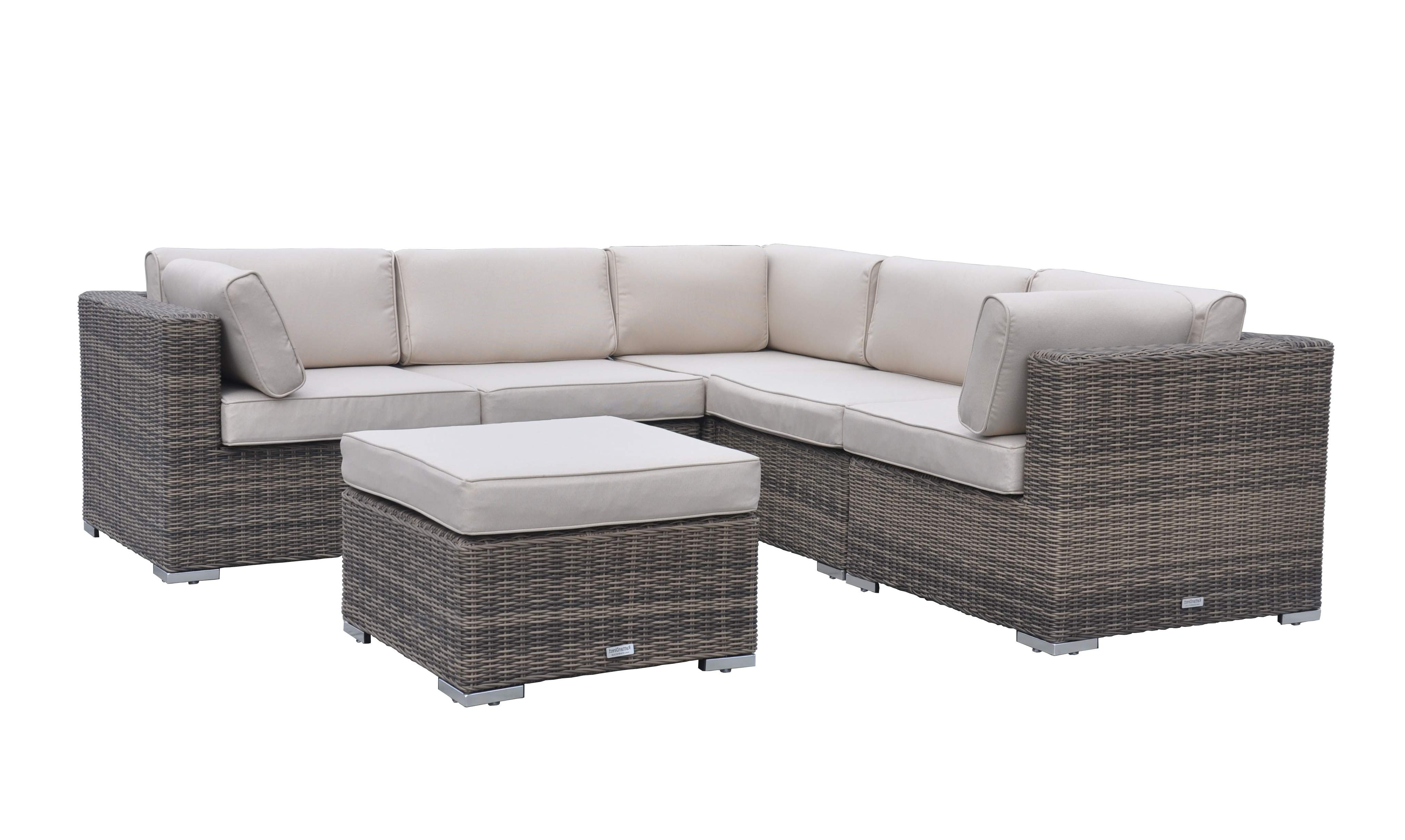 6 Piece Florida Corner Set – Truffle And Champagne Pertaining To Best And Newest Corner Sofa Chairs (Gallery 1 of 20)