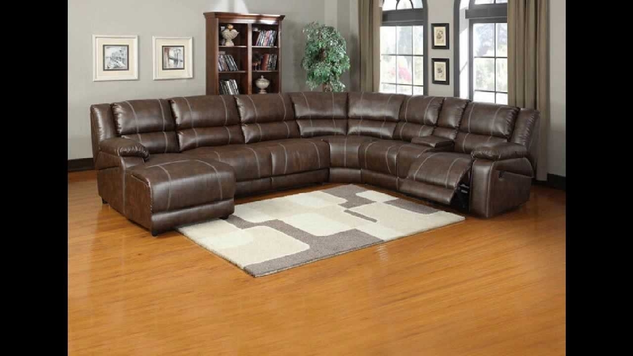 6 Piece Leather Sectional Sofas Inside Best And Newest 6 Pc Miller Saddle Brown Bonded Leather Sectional Sofa With (View 17 of 20)