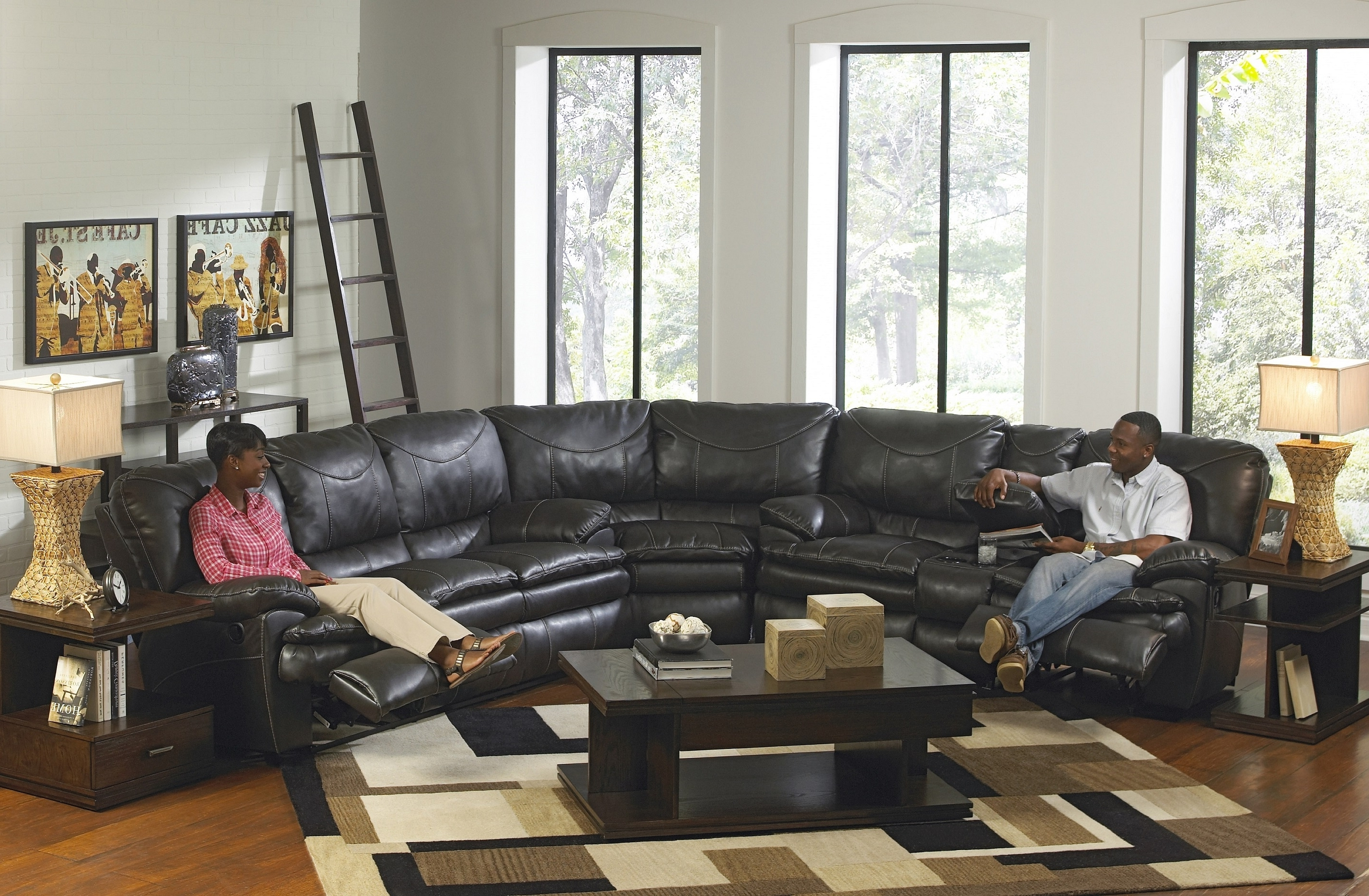 6 Piece Leather Sectional Sofas Inside Recent Big Softie 6 Pc. Power Reclining Sectionalone80 White Leather (Gallery 13 of 20)