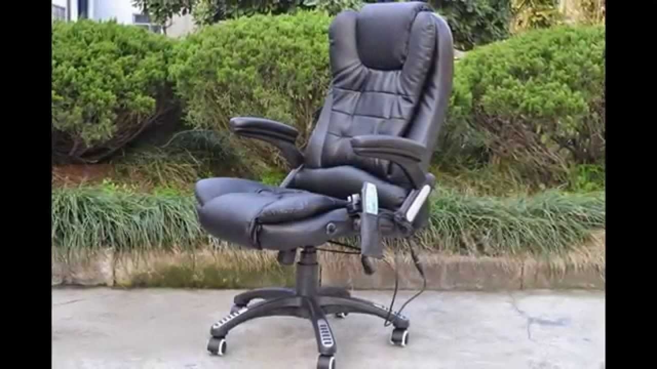 6 Points Massage Office Chair – Youtube Within Current Executive Office Chairs With Massage/heat (View 1 of 20)