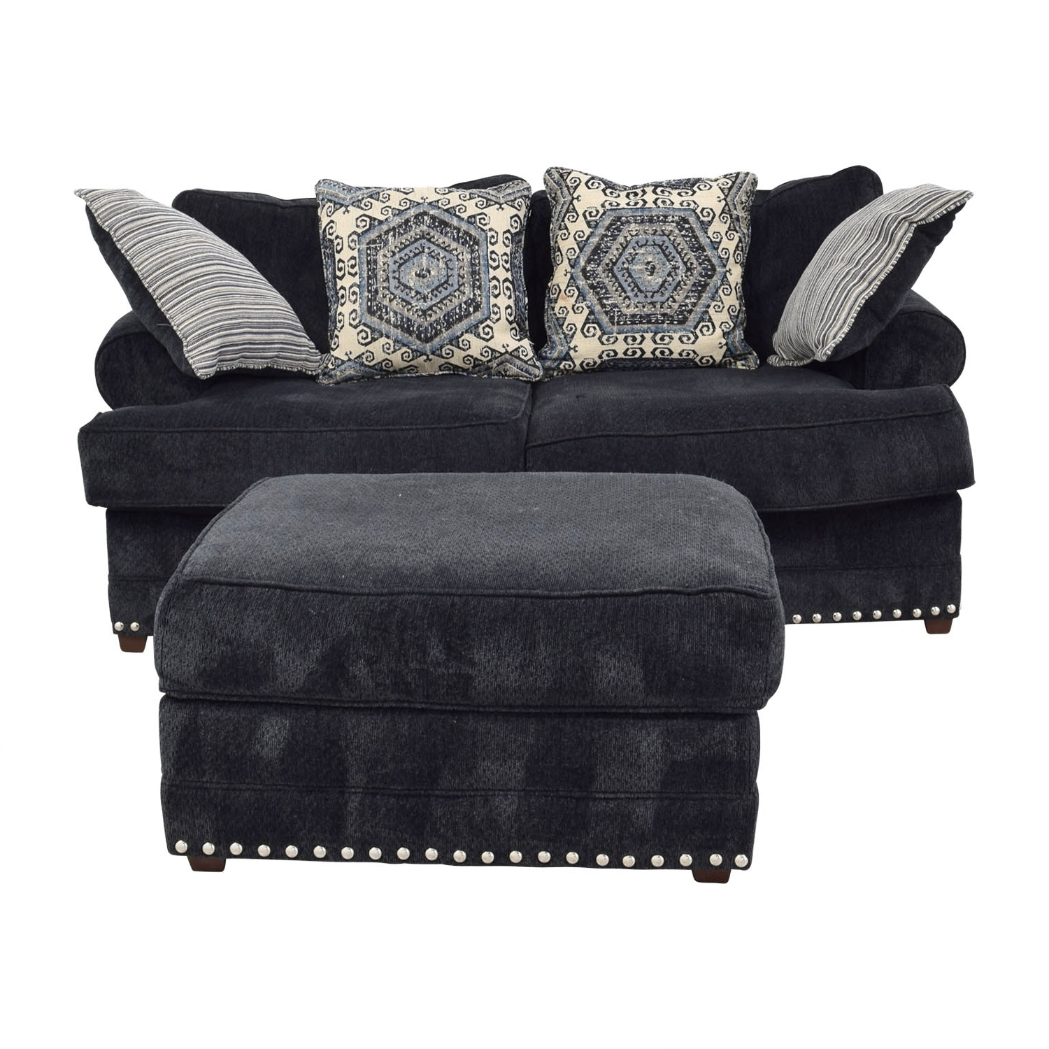 [%69% Off – Bob's Furniture Bob's Furniture Dakota Navy Nailhead Intended For Recent Loveseats With Ottoman|Loveseats With Ottoman For Best And Newest 69% Off – Bob's Furniture Bob's Furniture Dakota Navy Nailhead|Well Known Loveseats With Ottoman Pertaining To 69% Off – Bob's Furniture Bob's Furniture Dakota Navy Nailhead|Recent 69% Off – Bob's Furniture Bob's Furniture Dakota Navy Nailhead Throughout Loveseats With Ottoman%] (View 17 of 20)