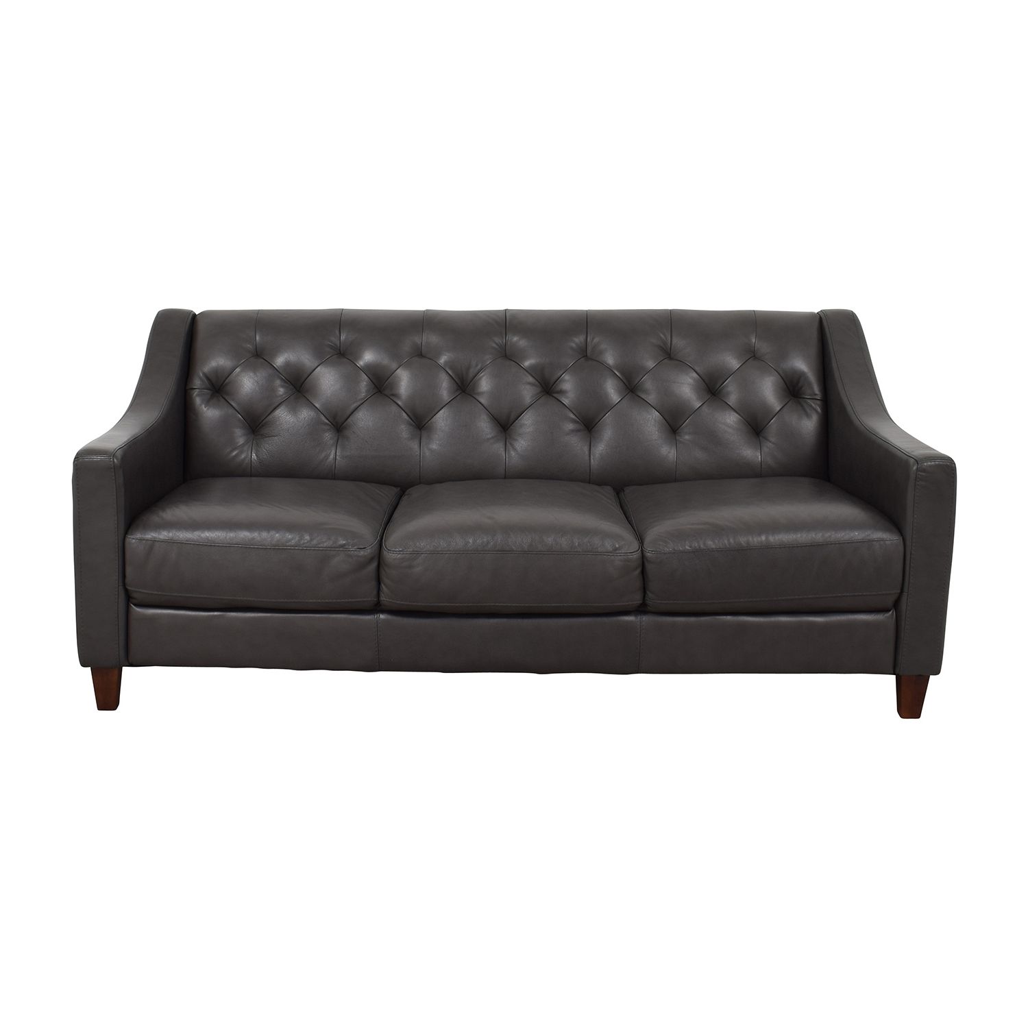 [%69% Off – Macy's Macy's Tufted Gray Leather Sofa / Sofas In Famous Macys Leather Sofas|Macys Leather Sofas Regarding Well Liked 69% Off – Macy's Macy's Tufted Gray Leather Sofa / Sofas|Most Popular Macys Leather Sofas Pertaining To 69% Off – Macy's Macy's Tufted Gray Leather Sofa / Sofas|Well Liked 69% Off – Macy's Macy's Tufted Gray Leather Sofa / Sofas In Macys Leather Sofas%] (View 2 of 20)