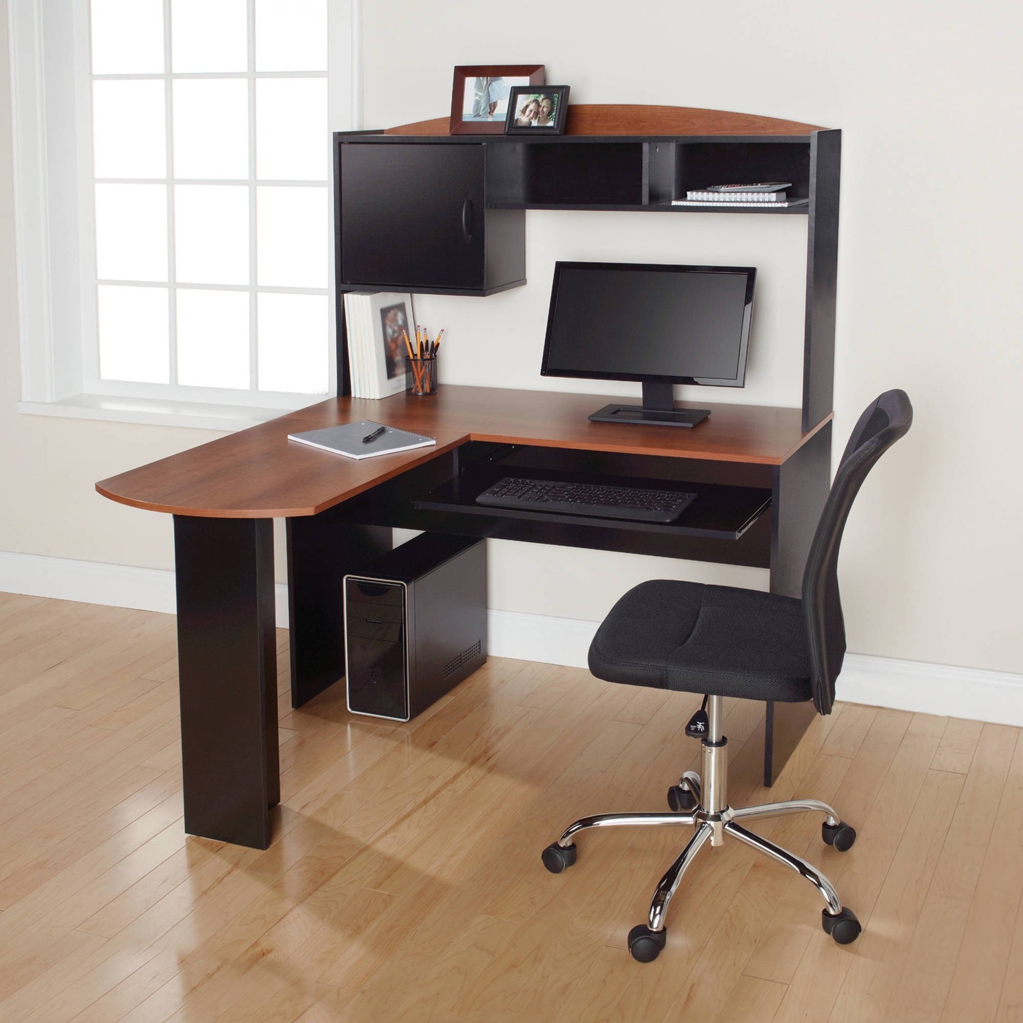 71 Most Hunky Dory L Shaped Glass Desk Walmart Corner Bookshelf Throughout 2018 Tall Computer Desks (View 10 of 20)