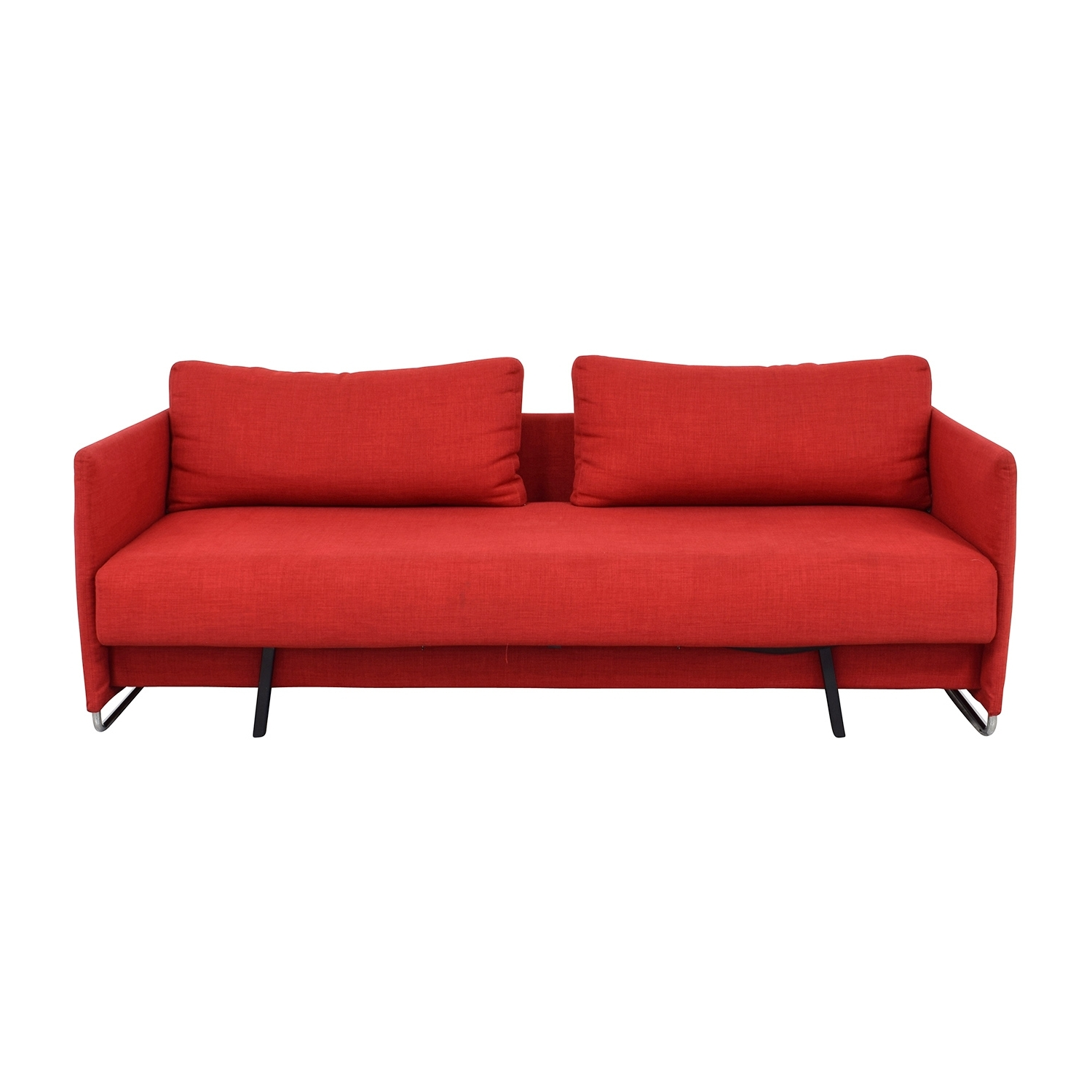 [%74% Off – Cb2 Cb2 Tandom Red Sleeper Sofa / Sofas In Well Known Red Sleeper Sofas|Red Sleeper Sofas Inside Fashionable 74% Off – Cb2 Cb2 Tandom Red Sleeper Sofa / Sofas|Fashionable Red Sleeper Sofas In 74% Off – Cb2 Cb2 Tandom Red Sleeper Sofa / Sofas|Widely Used 74% Off – Cb2 Cb2 Tandom Red Sleeper Sofa / Sofas Intended For Red Sleeper Sofas%] (View 8 of 20)