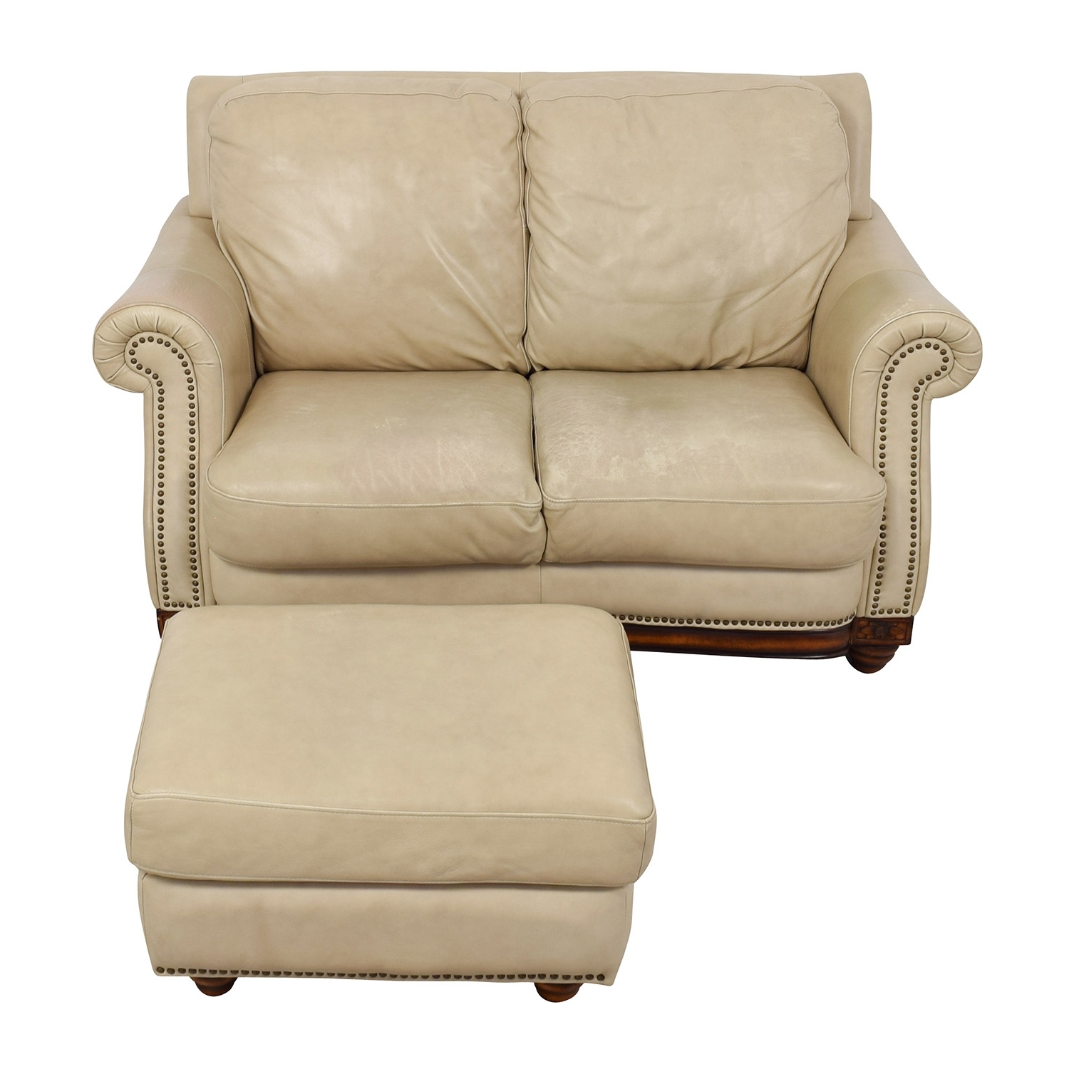 [%74% Off – Raymour & Flanigan Raymour & Flanigan Studded Tan Intended For Recent Loveseats With Ottoman|Loveseats With Ottoman Regarding Most Current 74% Off – Raymour & Flanigan Raymour & Flanigan Studded Tan|2019 Loveseats With Ottoman Regarding 74% Off – Raymour & Flanigan Raymour & Flanigan Studded Tan|Preferred 74% Off – Raymour & Flanigan Raymour & Flanigan Studded Tan With Regard To Loveseats With Ottoman%] (View 3 of 20)