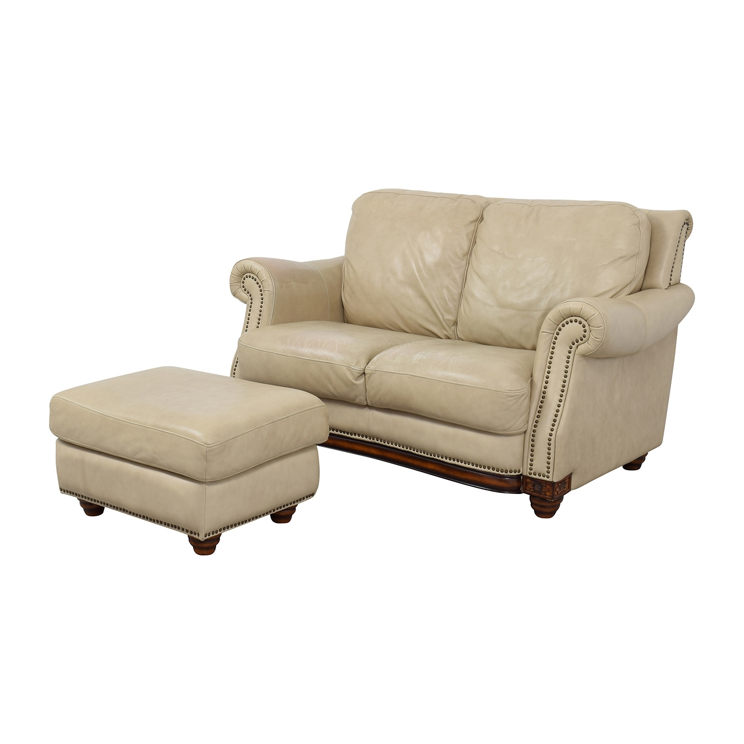[%74% Off – Raymour & Flanigan Raymour & Flanigan Studded Tan With 2018 Loveseats With Ottoman|Loveseats With Ottoman In Widely Used 74% Off – Raymour & Flanigan Raymour & Flanigan Studded Tan|Preferred Loveseats With Ottoman In 74% Off – Raymour & Flanigan Raymour & Flanigan Studded Tan|Fashionable 74% Off – Raymour & Flanigan Raymour & Flanigan Studded Tan For Loveseats With Ottoman%] (View 4 of 20)