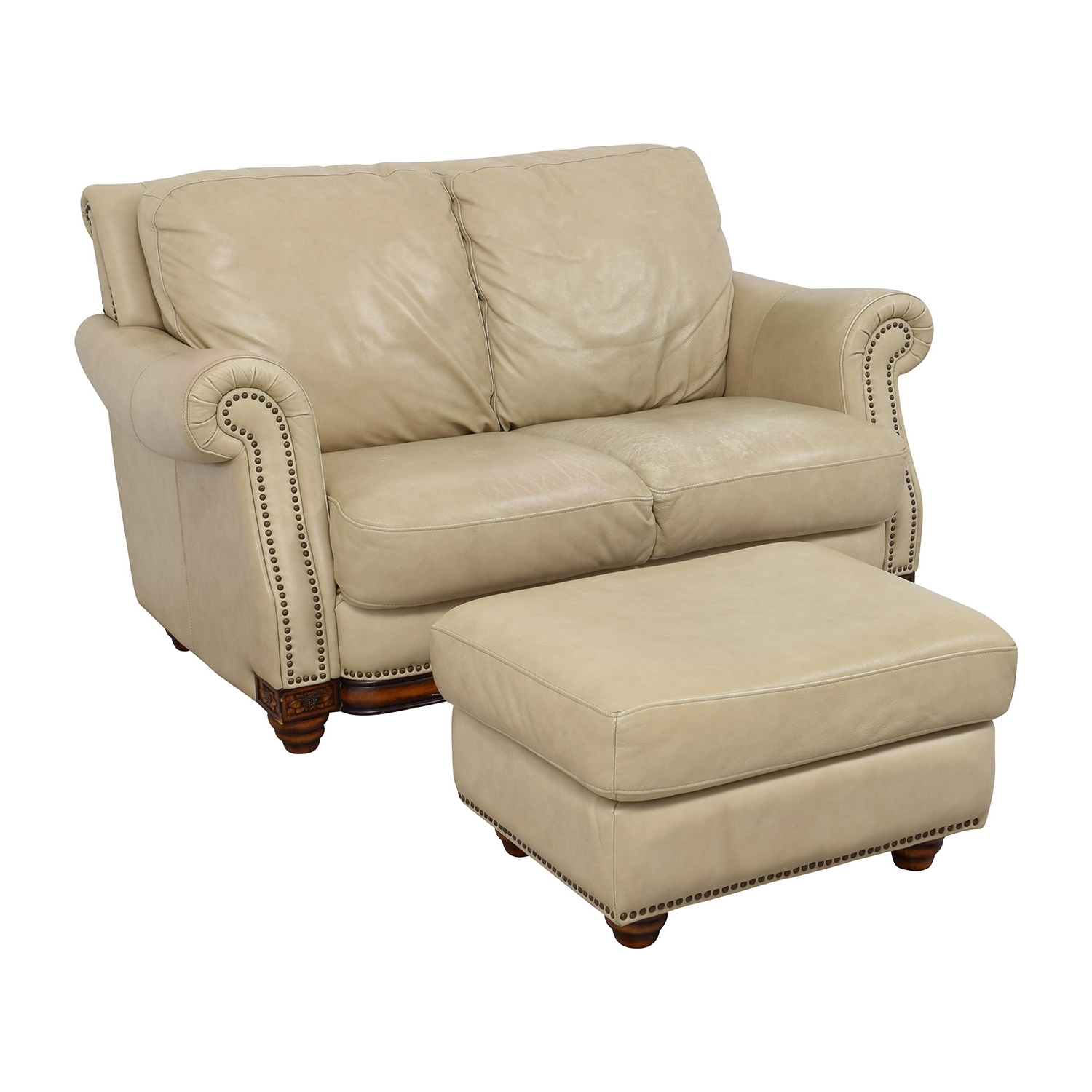 [%74% Off – Raymour & Flanigan Raymour & Flanigan Studded Tan With 2018 Loveseats With Ottoman|Loveseats With Ottoman Throughout Newest 74% Off – Raymour & Flanigan Raymour & Flanigan Studded Tan|Preferred Loveseats With Ottoman Inside 74% Off – Raymour & Flanigan Raymour & Flanigan Studded Tan|Well Known 74% Off – Raymour & Flanigan Raymour & Flanigan Studded Tan For Loveseats With Ottoman%] (View 5 of 20)