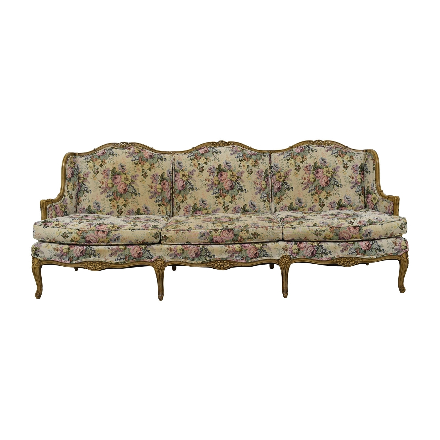 [%86% Off – Vintage Floral Sofa / Sofas Pertaining To Most Popular Vintage Sofas|Vintage Sofas Inside Most Up To Date 86% Off – Vintage Floral Sofa / Sofas|Trendy Vintage Sofas Pertaining To 86% Off – Vintage Floral Sofa / Sofas|Trendy 86% Off – Vintage Floral Sofa / Sofas For Vintage Sofas%] (View 8 of 20)
