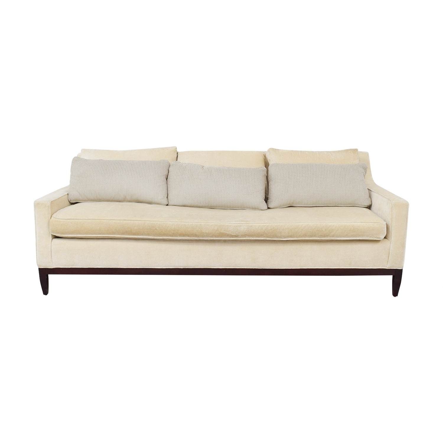 [%90% Off – Vintage Mid Century White Single Cushion Sofa / Sofas Throughout Most Recent Single Sofas|Single Sofas With Favorite 90% Off – Vintage Mid Century White Single Cushion Sofa / Sofas|Preferred Single Sofas Throughout 90% Off – Vintage Mid Century White Single Cushion Sofa / Sofas|Best And Newest 90% Off – Vintage Mid Century White Single Cushion Sofa / Sofas Inside Single Sofas%] (View 3 of 20)