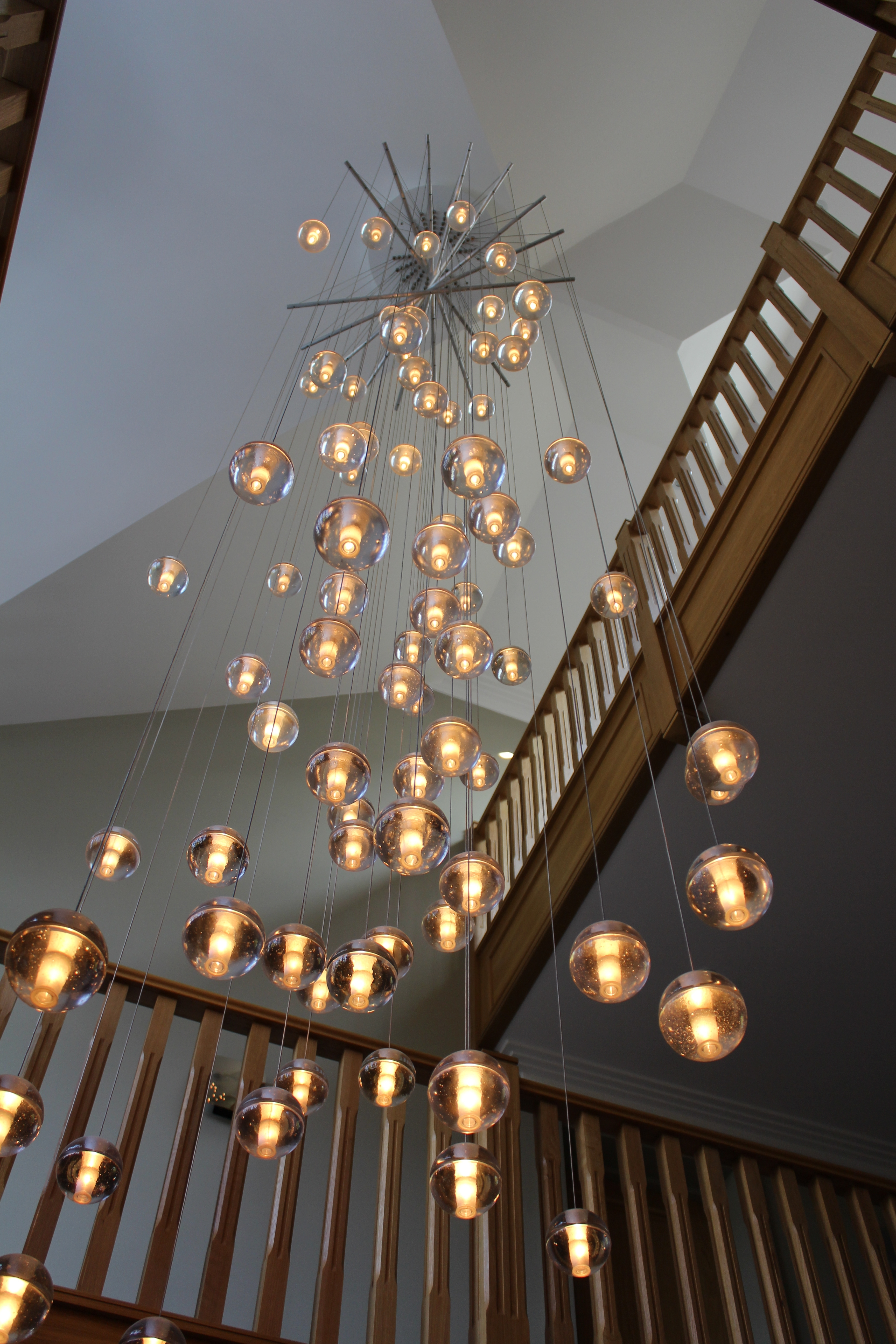 Charmant A Stunning Custom Bocci 14.81 Chandelier With Spreader Bars (Gallery 8 Of  20). Previous Photo Stairway Chandeliers