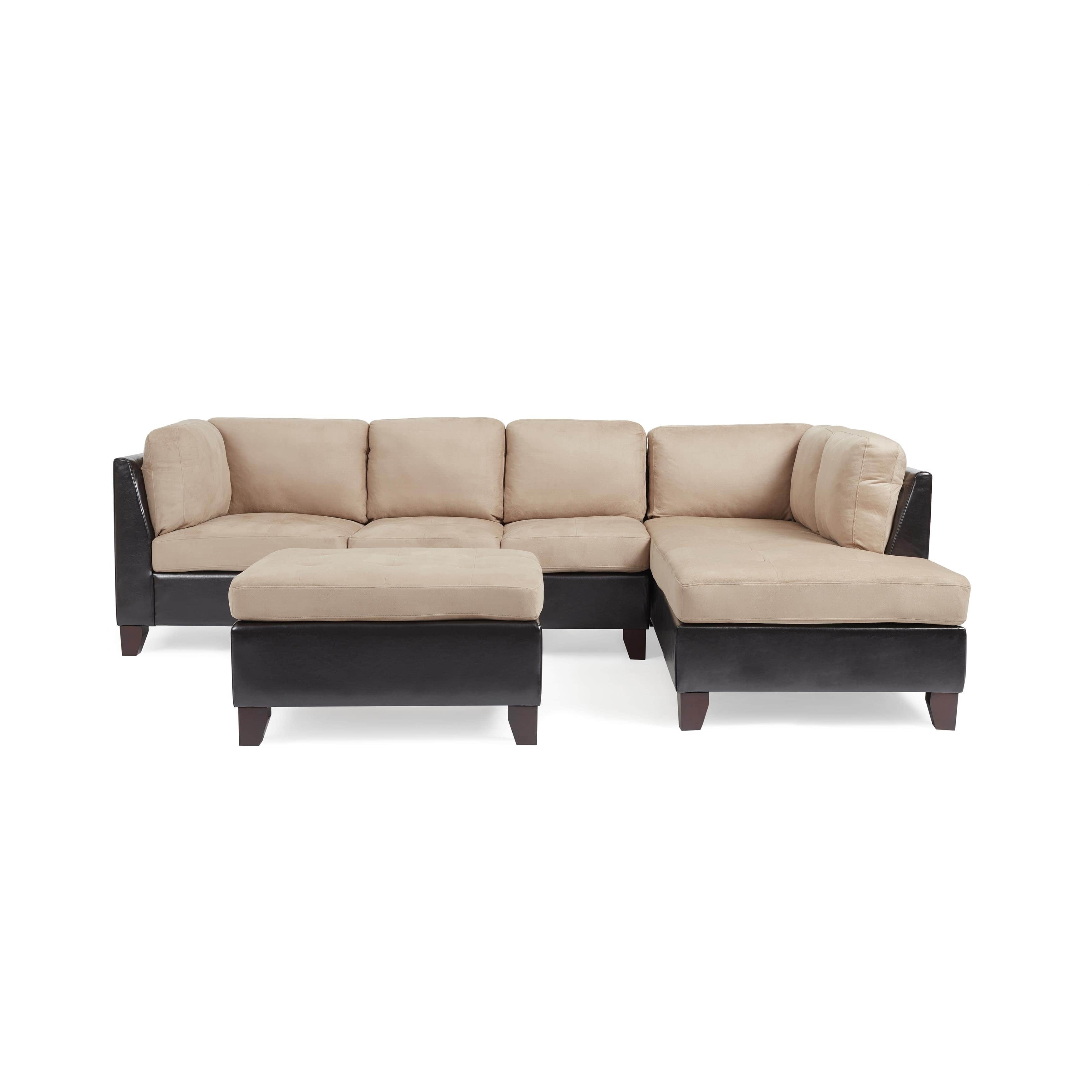 Abbyson Charlotte Beige Sectional Sofa And Ottoman – Free Shipping Within Well Known Charlotte Sectional Sofas (View 14 of 20)