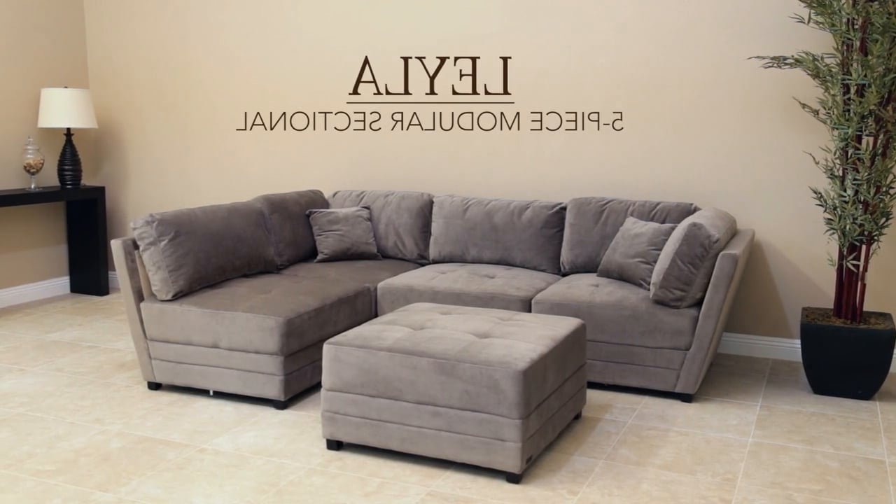 Abbyson Living – Leyla Fabric Modular Sectional On Vimeo For 2018 Abbyson Sectional Sofas (View 3 of 20)