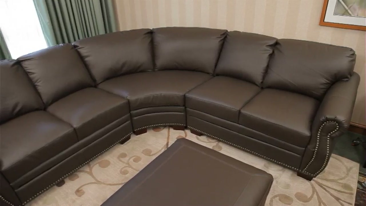 Abbyson Sectional Sofas Pertaining To Popular 532530 Beverly Leather Sectional » Abbyson – Furniture (View 7 of 20)