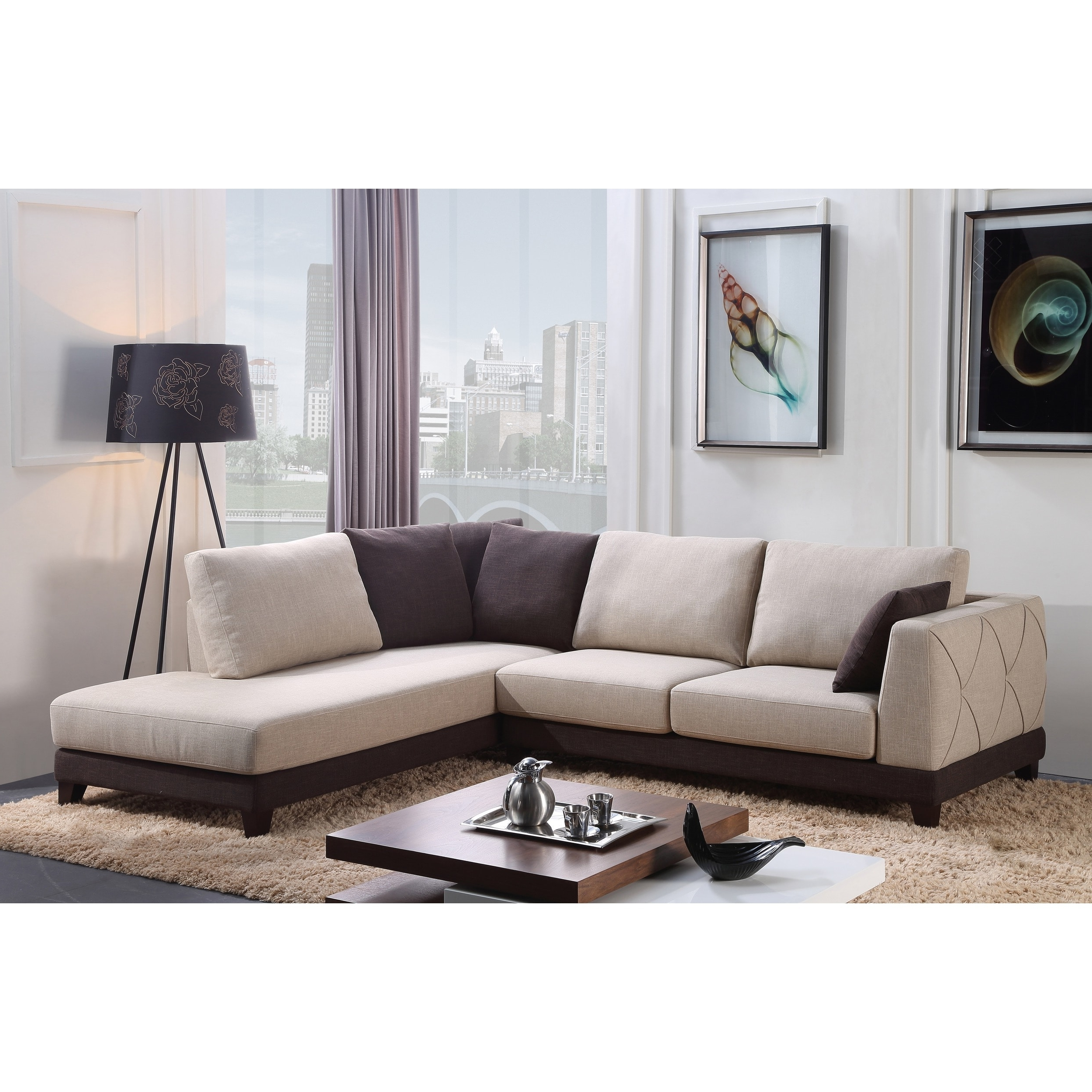 Abbyson 'verona' Fabric Sectional Sofa – Free Shipping Today For Well Known Abbyson Sectional Sofas (View 2 of 20)