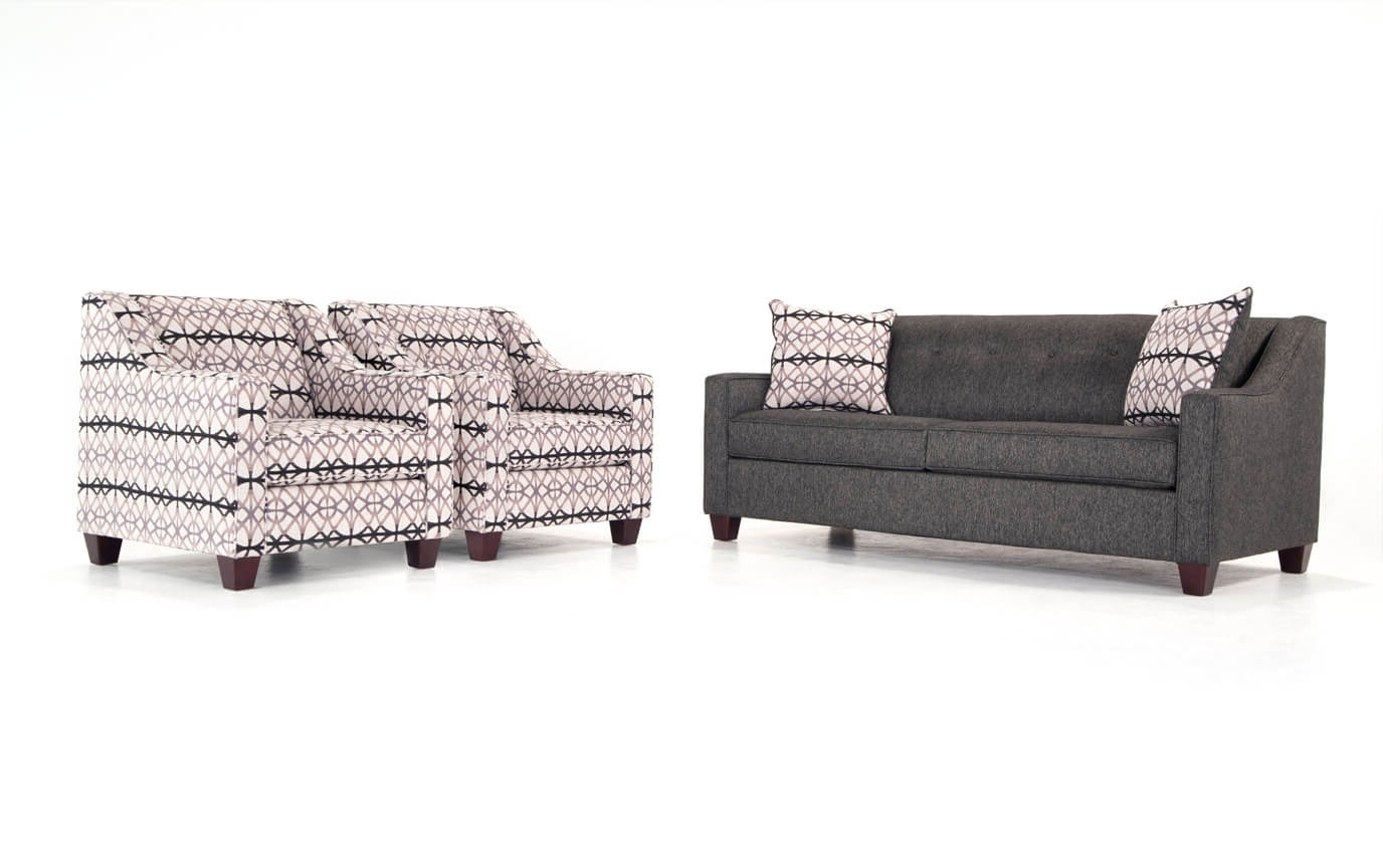 Accent Sofa Chairs Inside Most Recent Caleb Sofa & Accent Chairs (View 12 of 20)