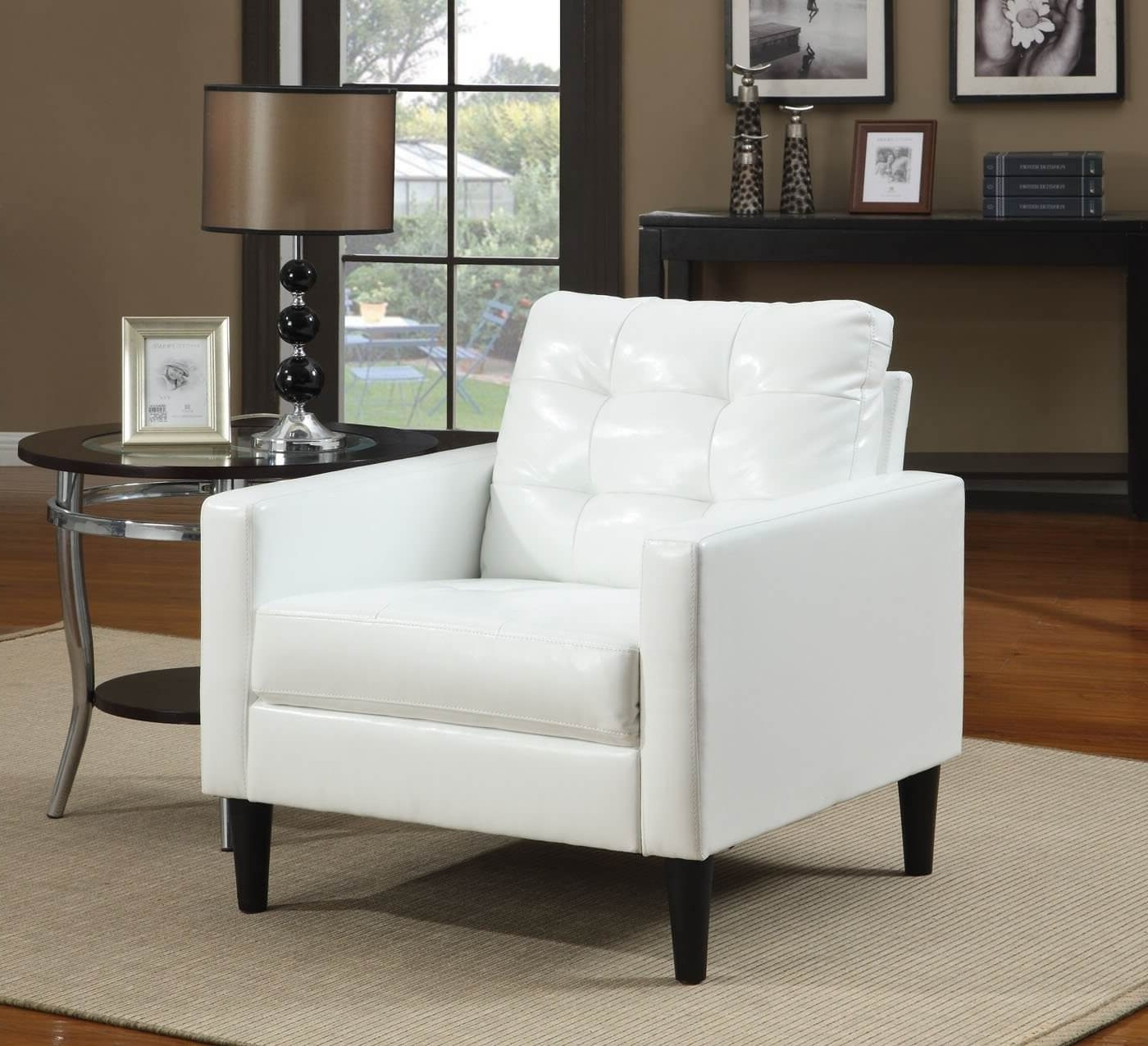 Accent Sofa Chairs Intended For Current 37 White Modern Accent Chairs For The Living Room (View 7 of 20)