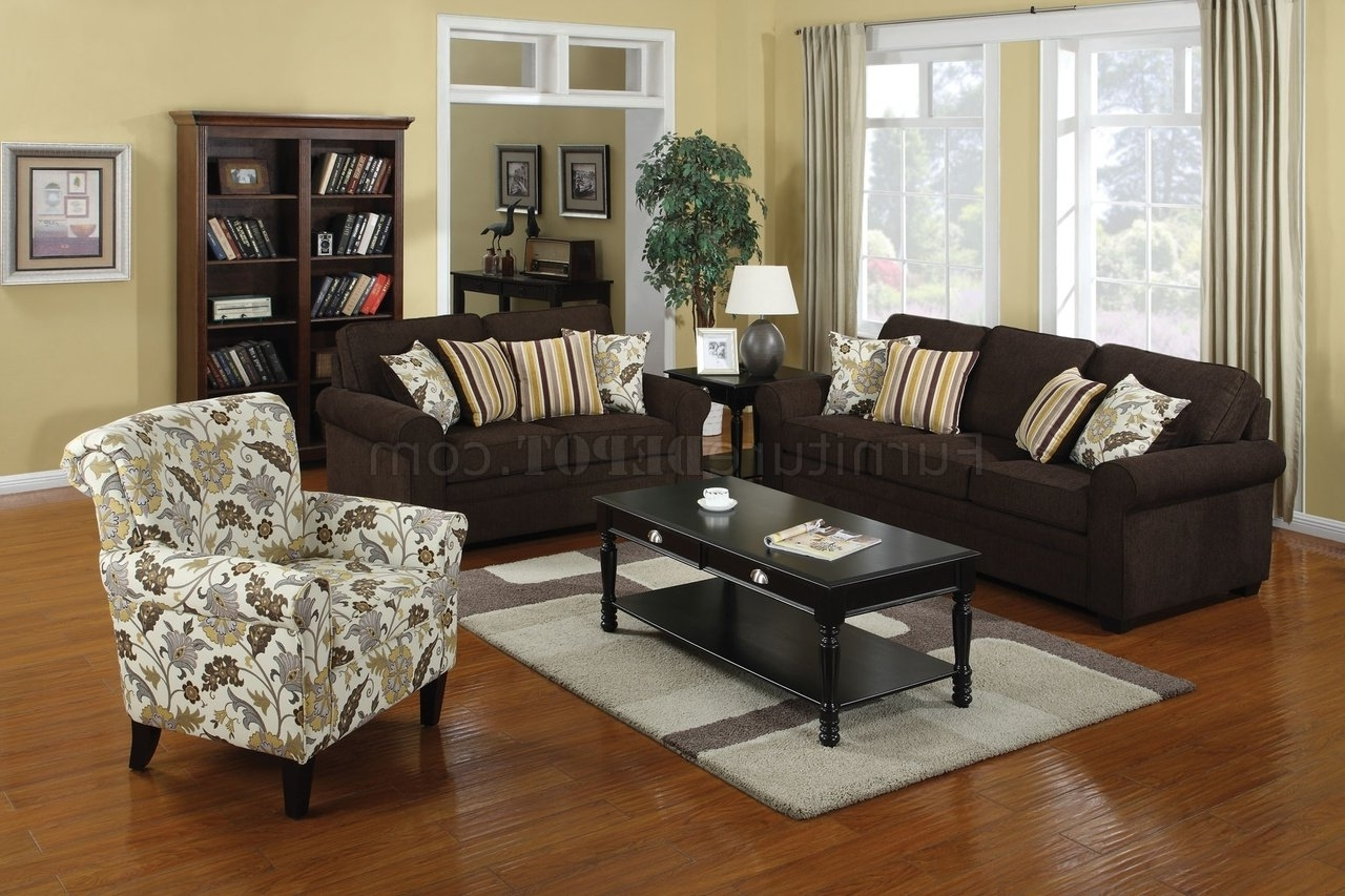 Accent Sofa Chairs Pertaining To Well Known 504241 Rosalie Sofa In Dual Colored Fabriccoaster W/options (View 2 of 20)