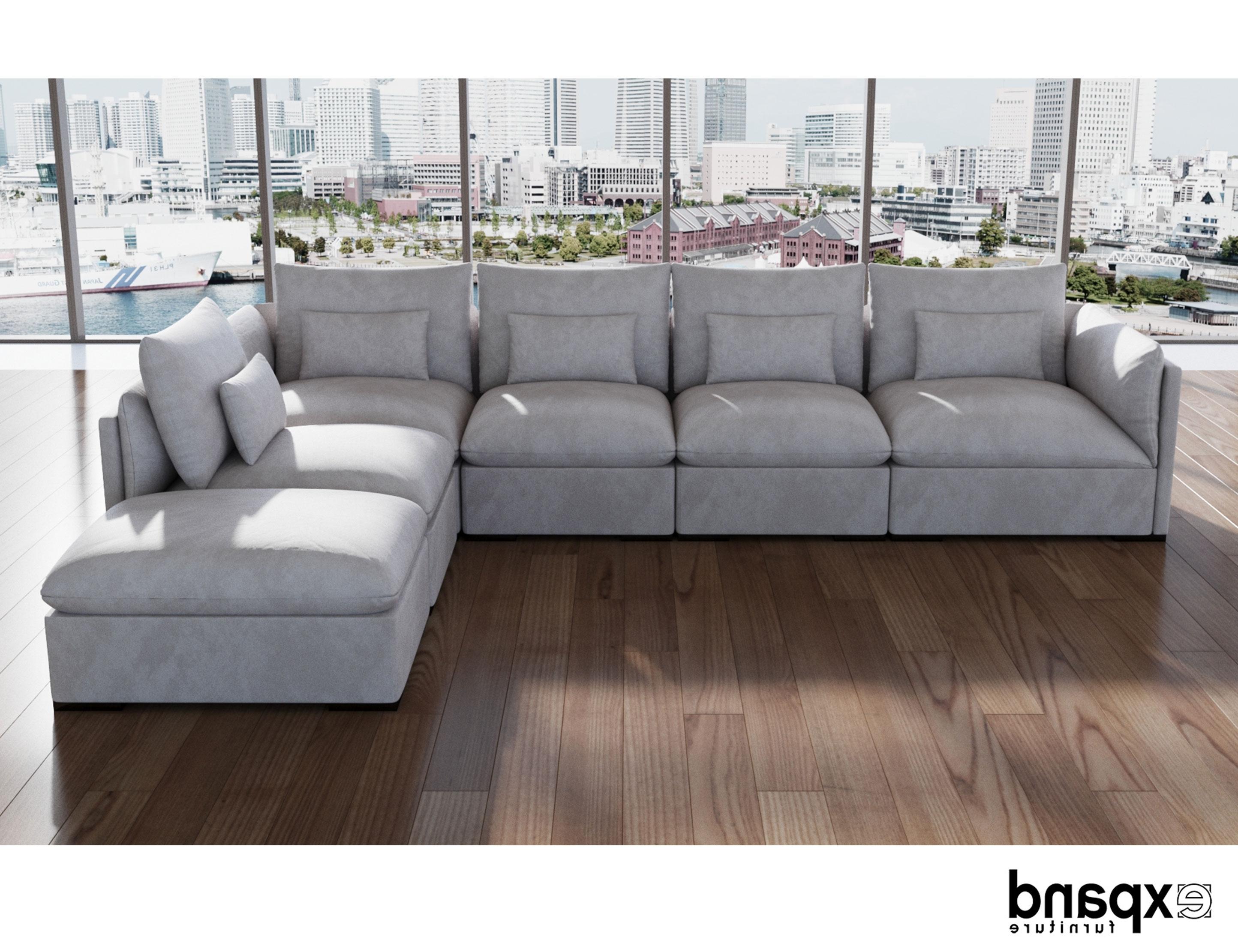 Adagio: Single Luxury Feather Sofa Module (View 11 of 20)