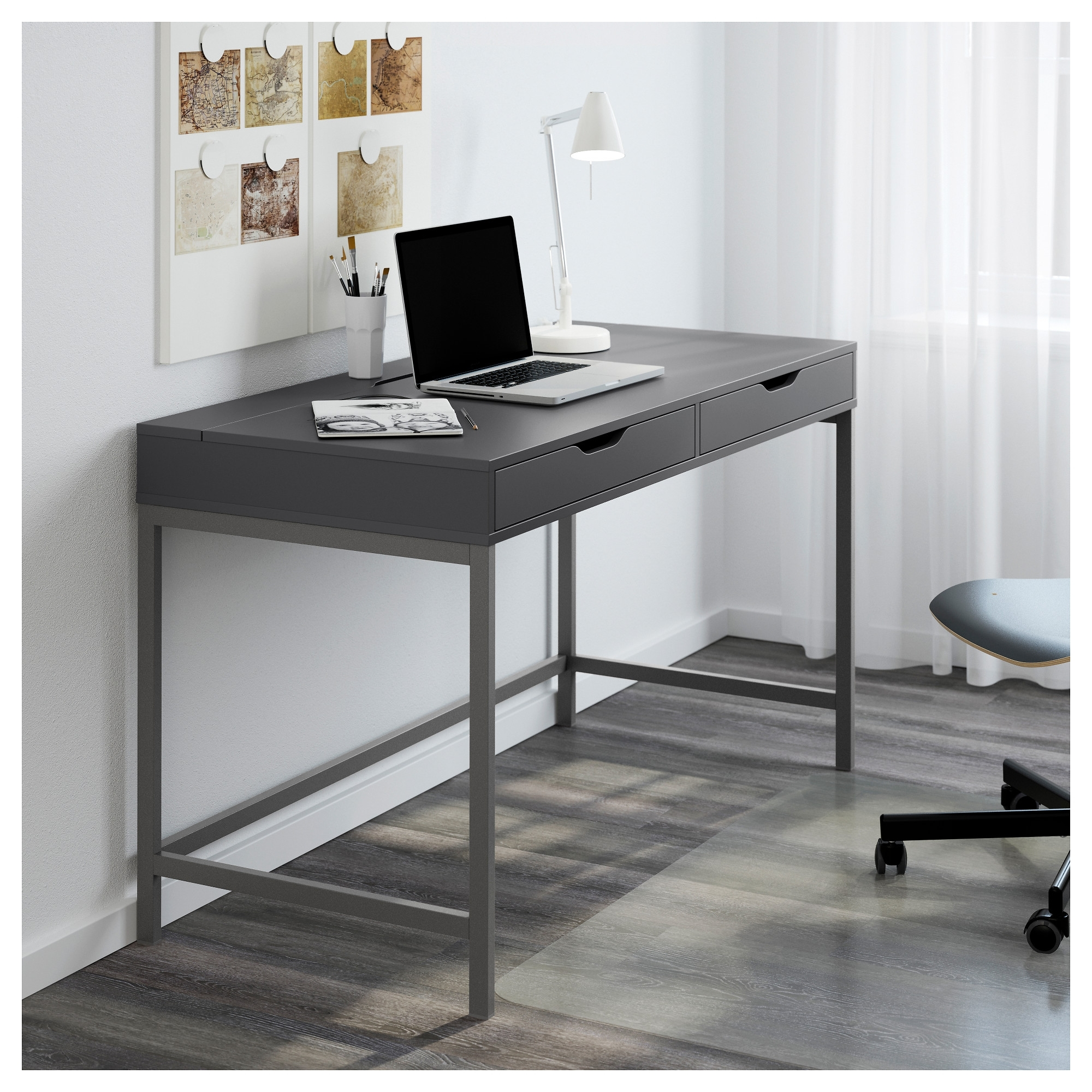 Alex Desk – White – Ikea Intended For Preferred Computer Desks At Ikea (View 9 of 20)