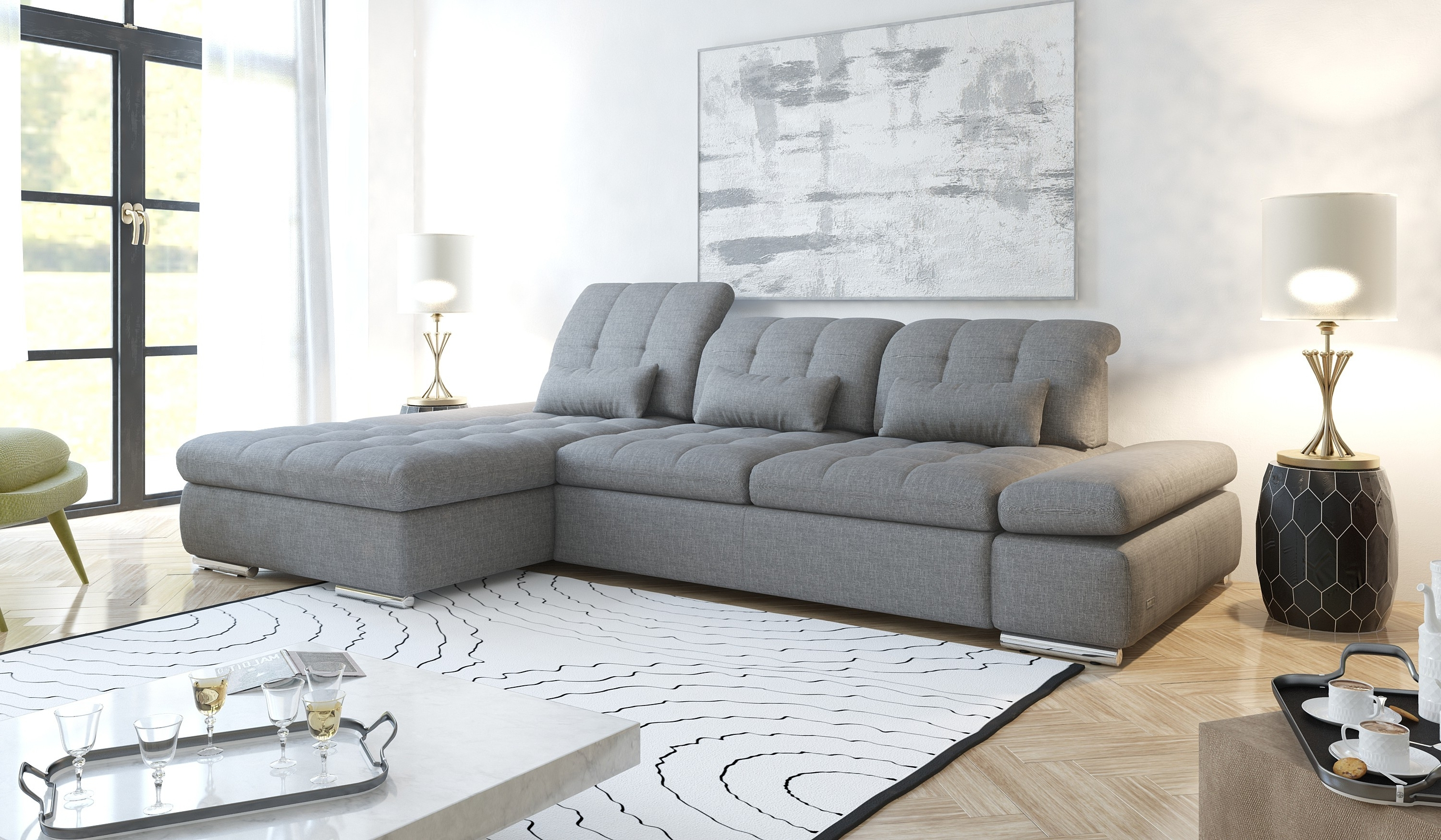 Alpine Sectional Sofa With Regard To Trendy Trinidad And Tobago Sectional Sofas (View 2 of 20)