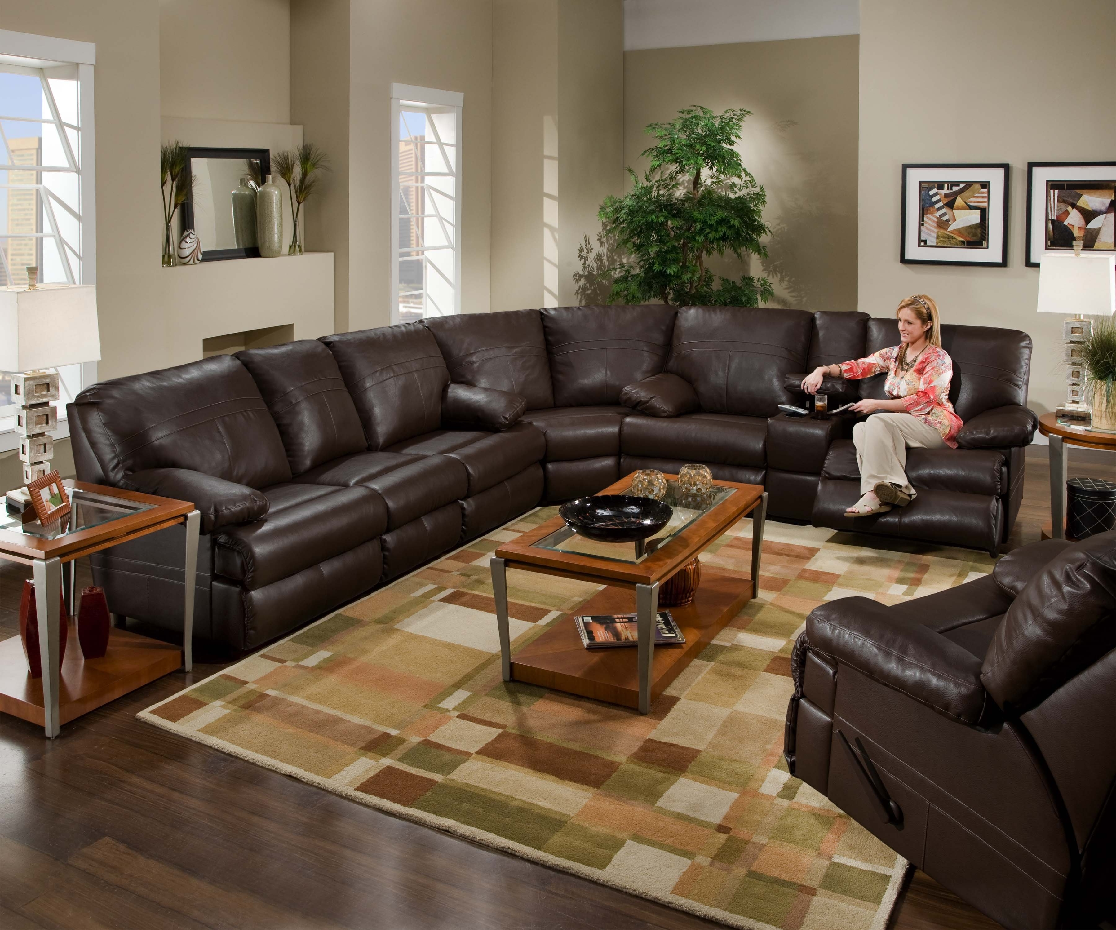 Amazing Black Sectional Sofa With Recliners 48 On Sleeper Sofa Inside Favorite Sectional Sofas In Charlotte Nc (View 6 of 20)