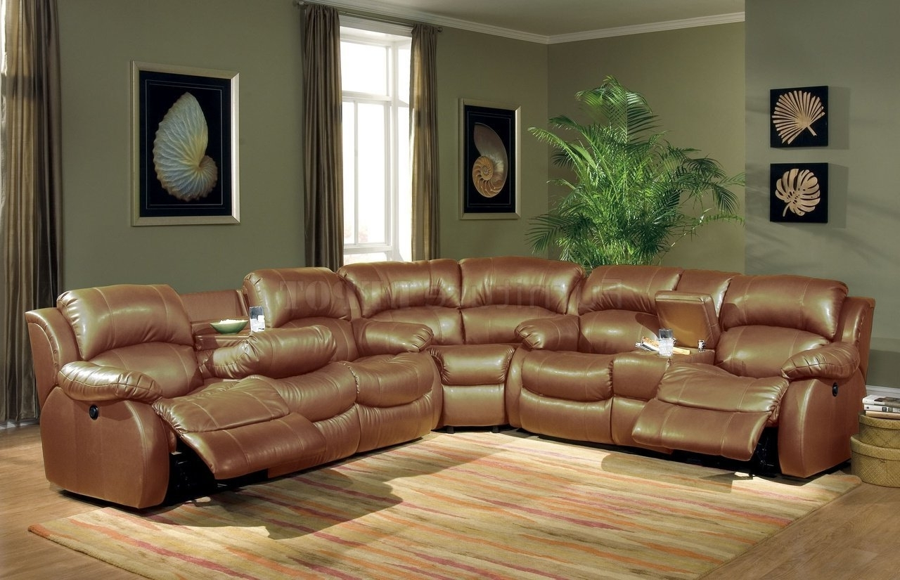 Amazing Sectional Sofas With Recliners And Cup Holders 31 For Your Throughout Preferred Leather Recliner Sectional Sofas (View 6 of 20)