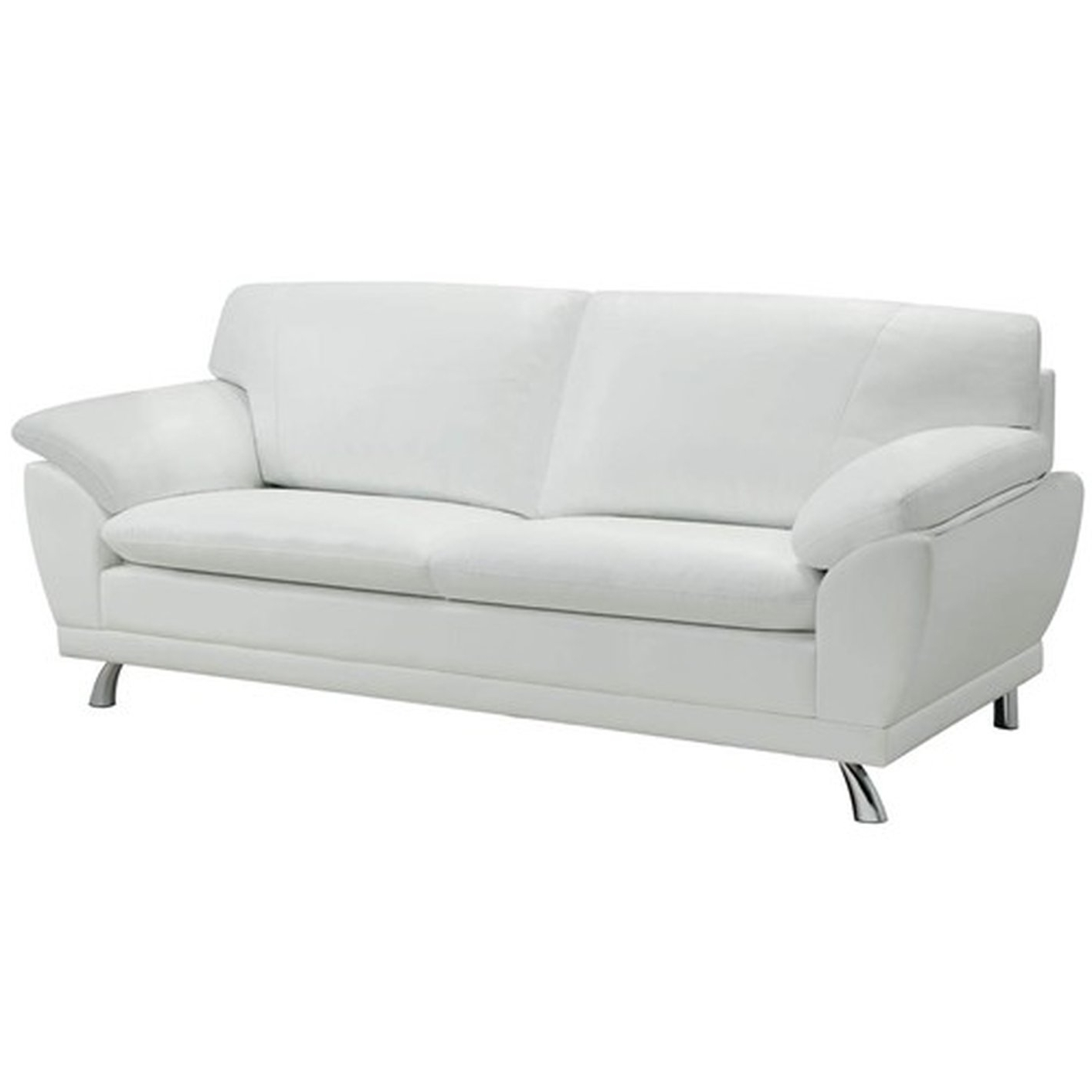 Amazing White Leather Couch 91 With Additional Sofas And Couches With Most Recent White Leather Sofas (View 2 of 20)