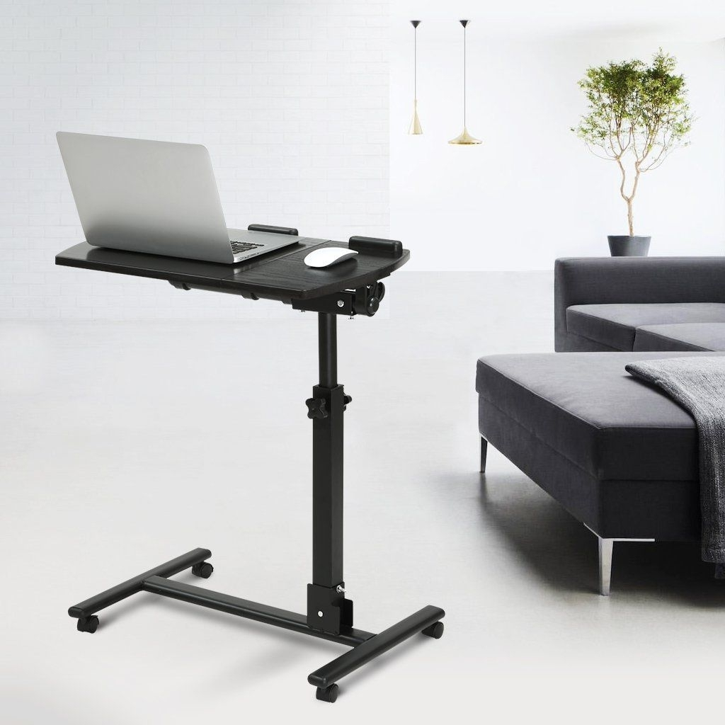 Amazon Computer Desks Pertaining To Widely Used Amazon : Langria Portable Mobile Computer Desk Laptop Cart (View 6 of 20)