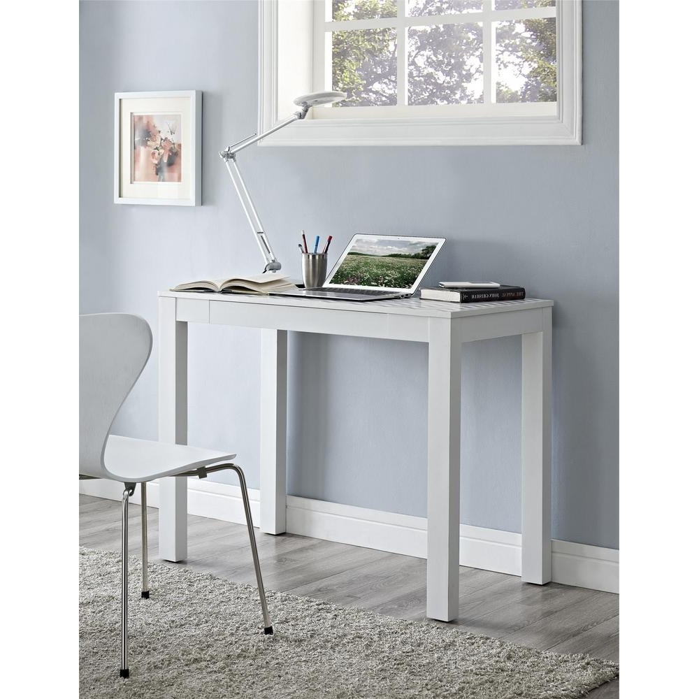 Ameriwood Home Nelson White And Teal Computer Desk With Storage Regarding Best And Newest Computer Desks In White (View 18 of 20)