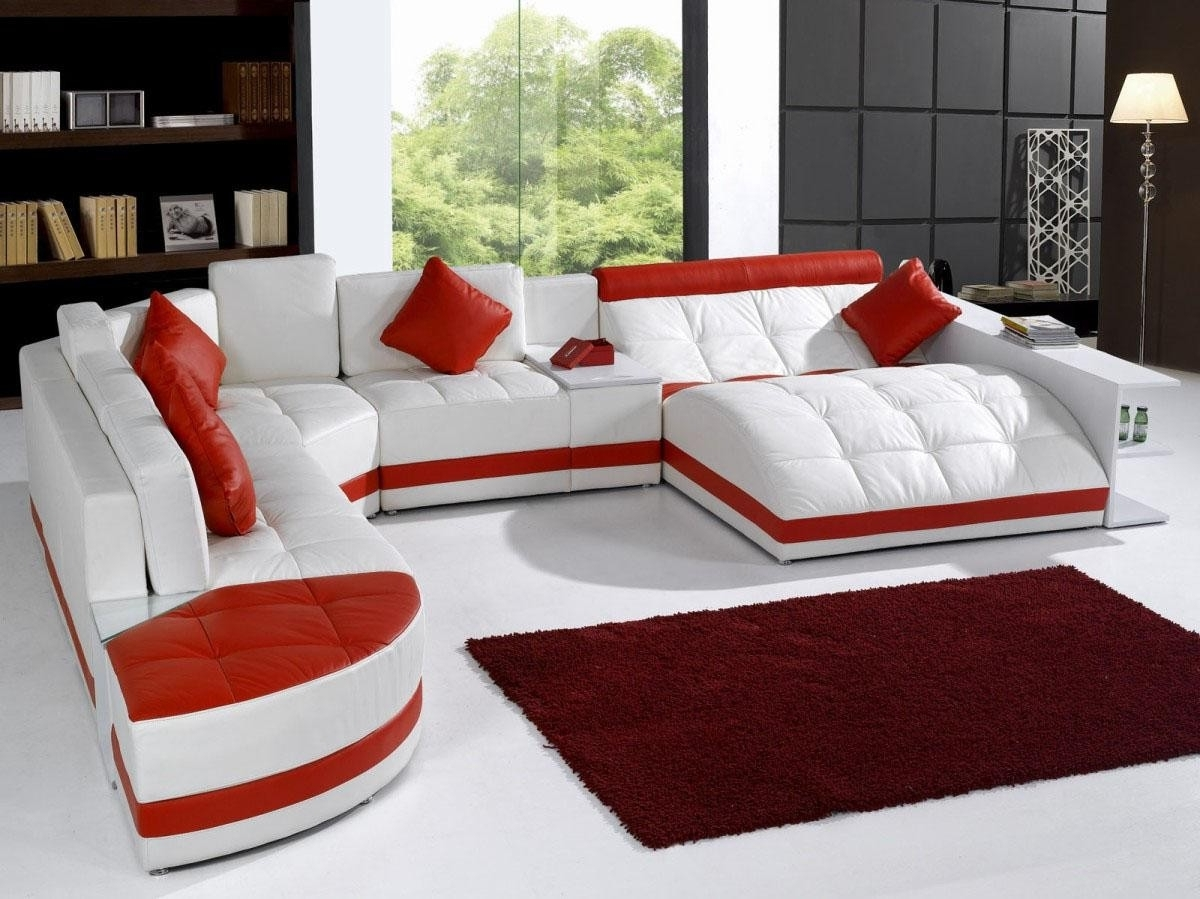 Amusement Park Leather Sectional Sofa Pertaining To Newest Modern Sectional Sofas (View 7 of 20)