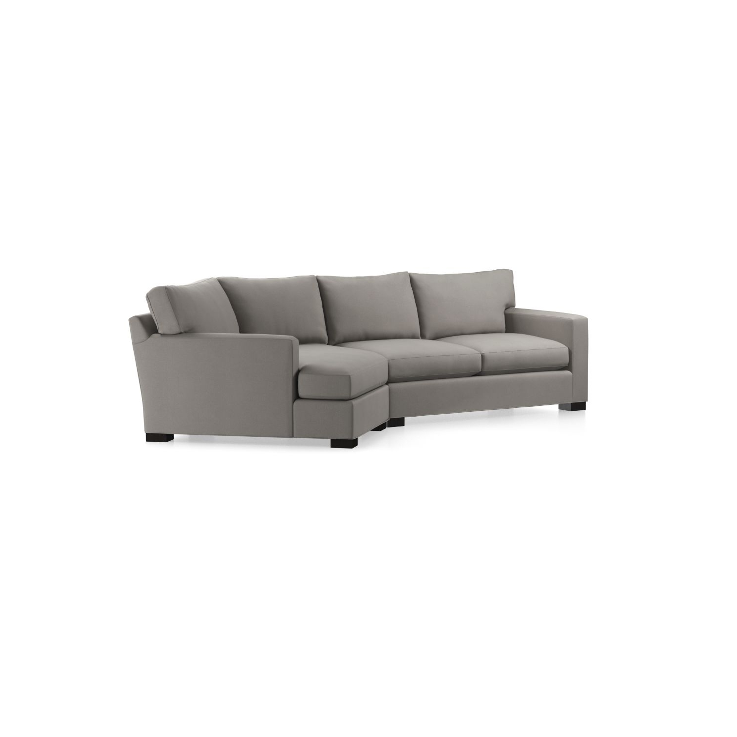 Angled Chaise Sofas For Most Current Axis Ii 2 Piece Right Arm Angled Chaise Sectional Sofa In Axis (View 4 of 20)