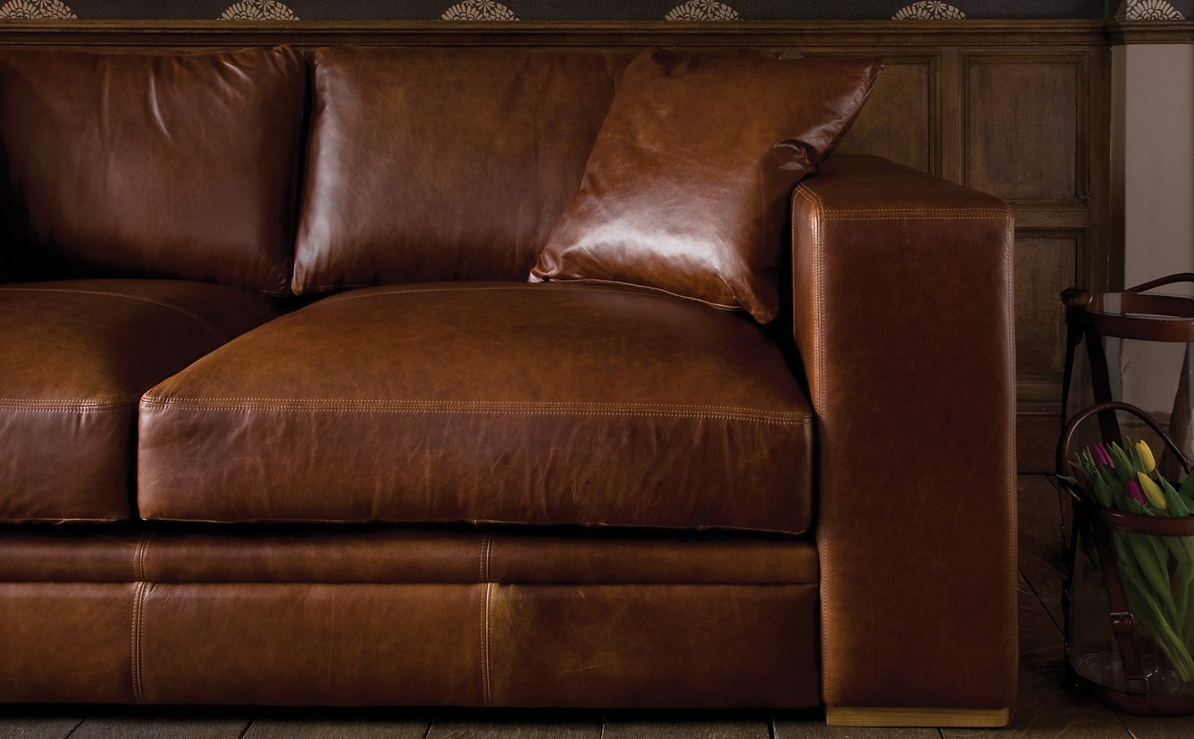 Aniline Leather Sofas Within Fashionable Aniline Leather Sofasindigo Furniture (View 5 of 20)