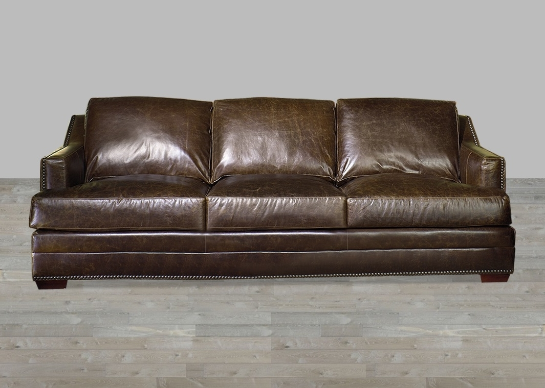 Antique Brown Aniline Leather Sofa Pertaining To Best And Newest Aniline Leather Sofas (View 6 of 20)