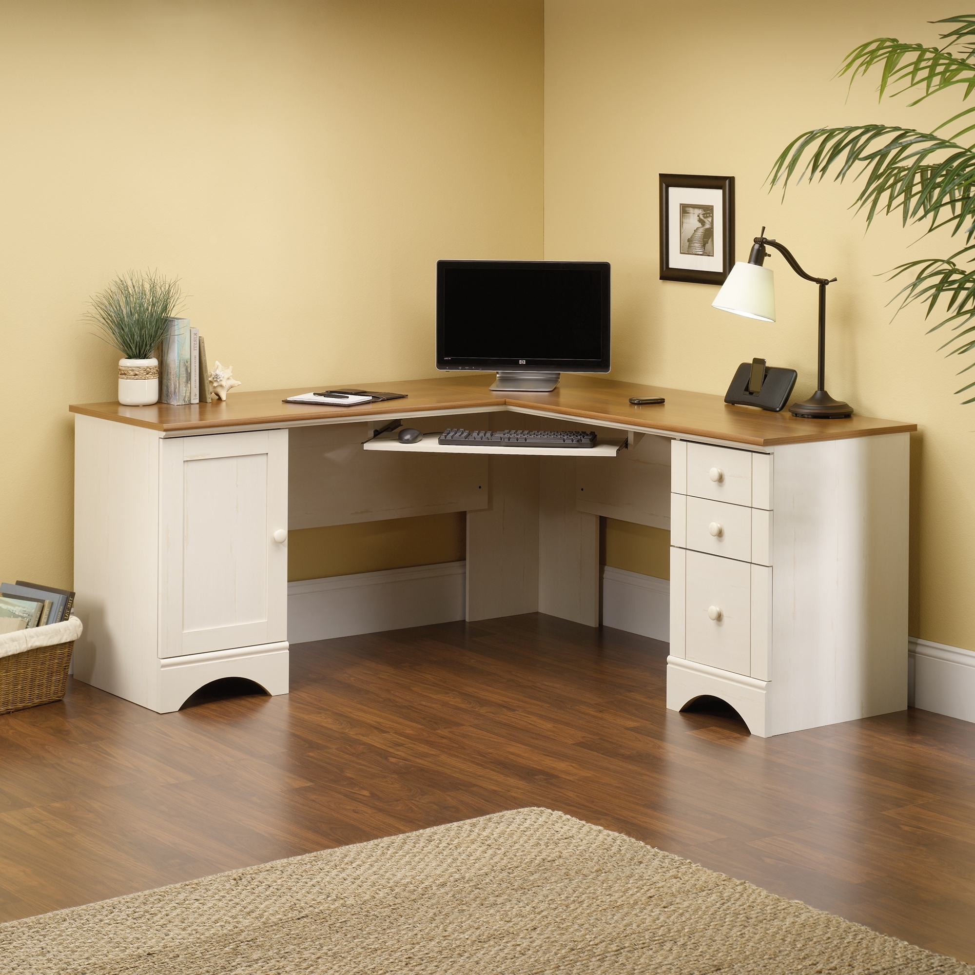 Antique Computer Desks With Recent Harbor View Corner Computer Desk (403793) – Sauder (View 13 of 20)