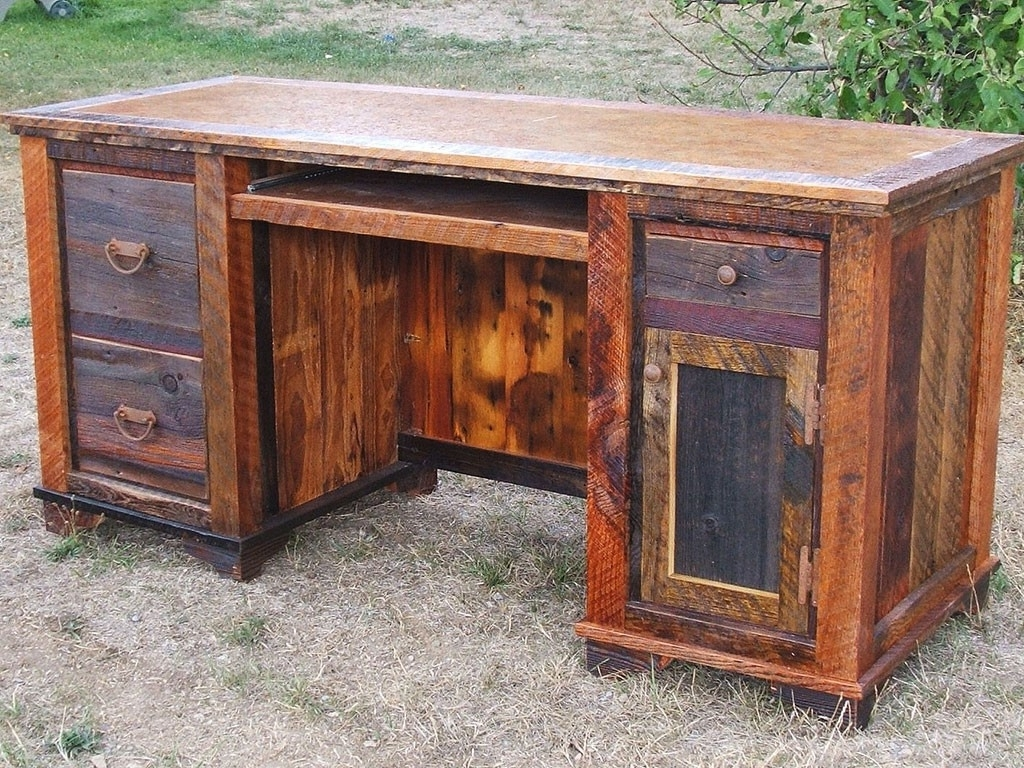 Antique Computer Desks With Well Known Roads Reclaimed Wood Computer Deskidaho Wood Shop (View 11 of 20)