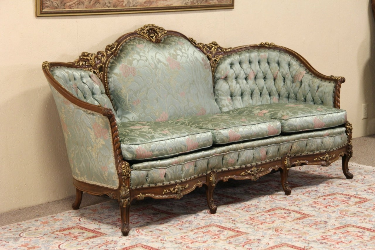 Antique Sofa Styles French U2014 Umpquavalleyquilters : Antique Within Widely  Used French Style Sofas (Gallery
