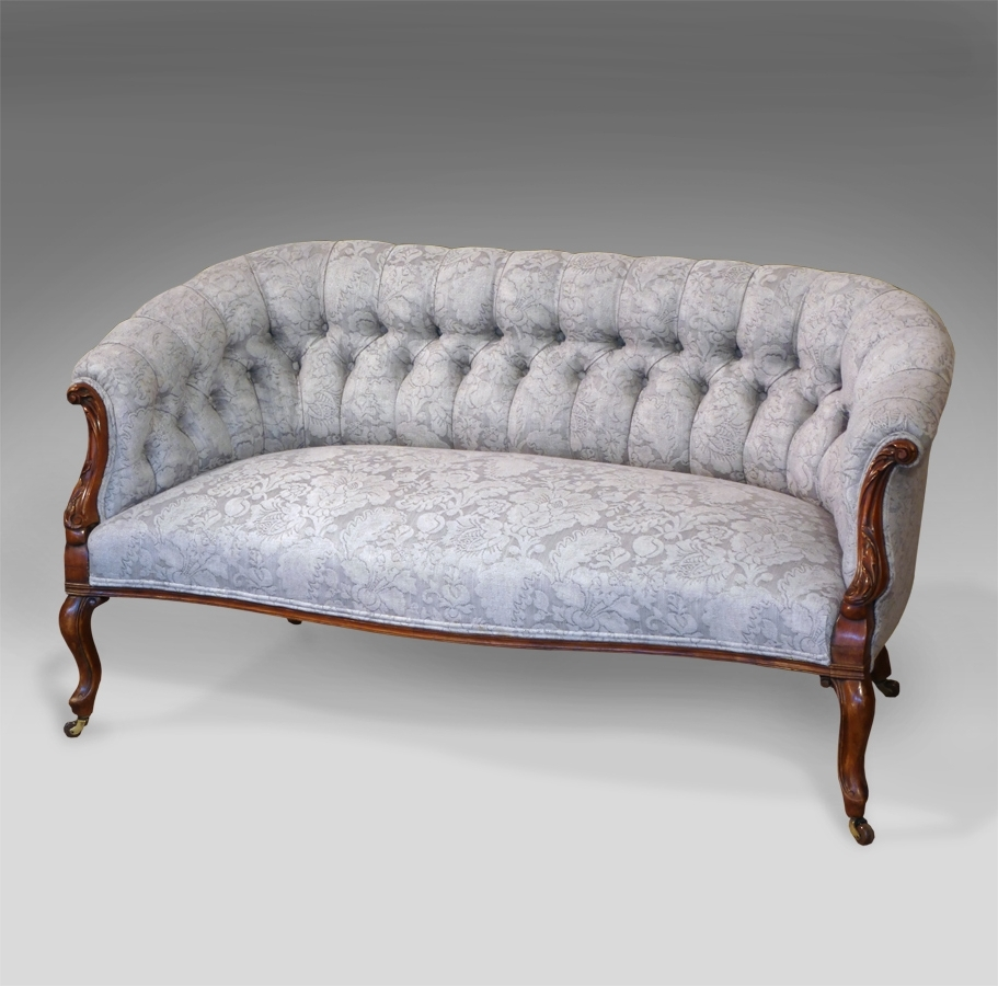Antique Sofas Pertaining To Widely Used Antique Mahogany Settee, Antique Sofa, Victorian Settee, Small (View 4 of 20)