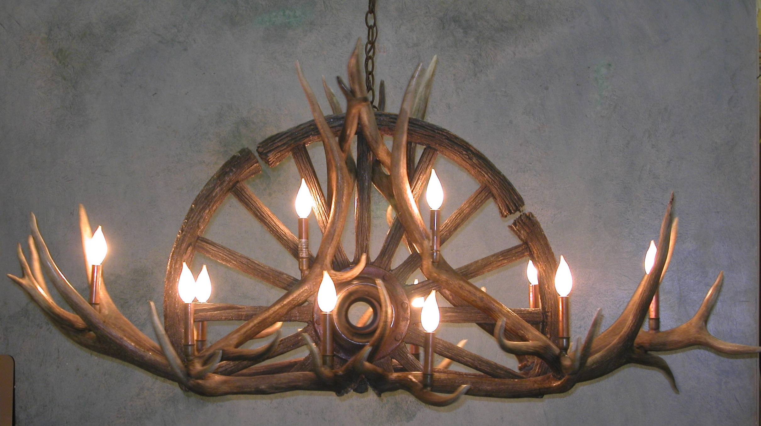 Antler Chandeliers For Sale. Real Mccoy! With Regard To Widely Used Turquoise Antler Chandeliers (Gallery 2 of 20)