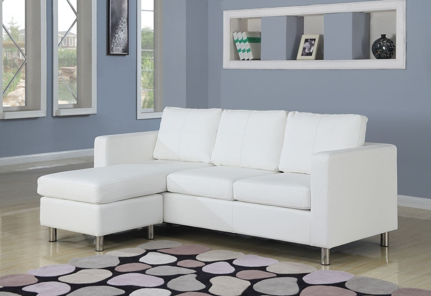 Apartment Sectional Sofas With Chaise With Preferred Sofa : Chaise Sofa Double Chaise Sectional Leather Apartment Size (View 7 of 20)