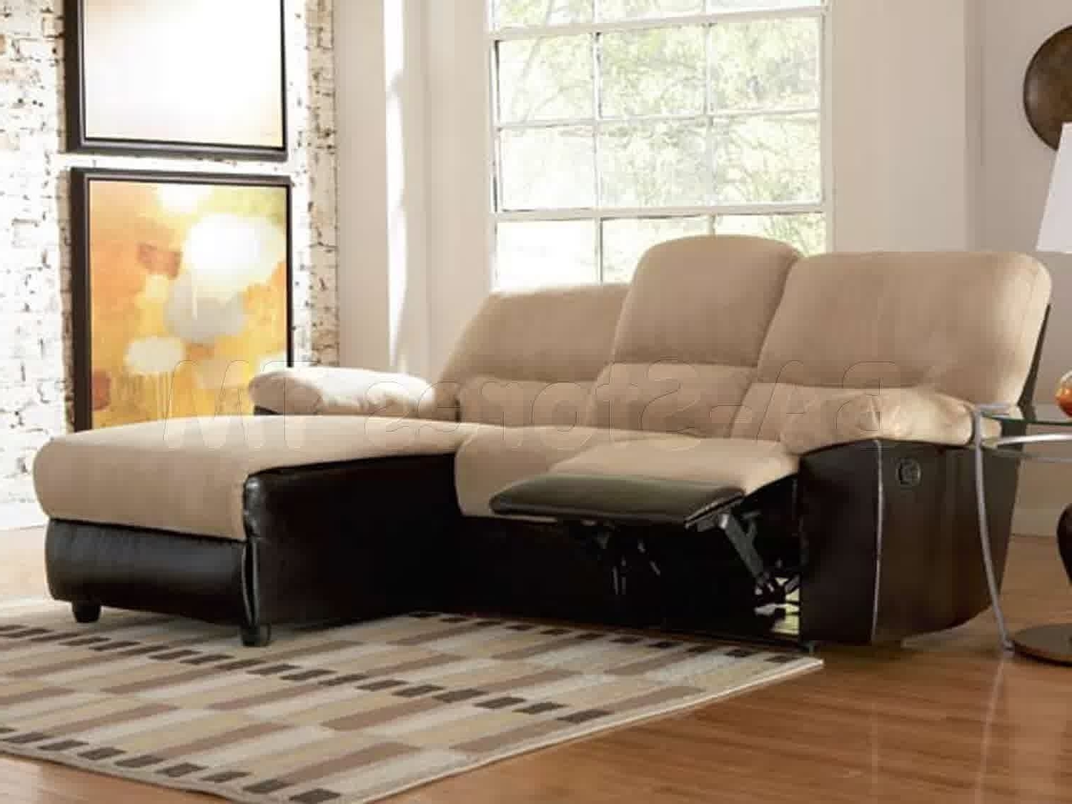 Apartment Sofas In Popular Top Grain Leather Reclining Sectional Cheap Sectional Sofas (View 9 of 20)