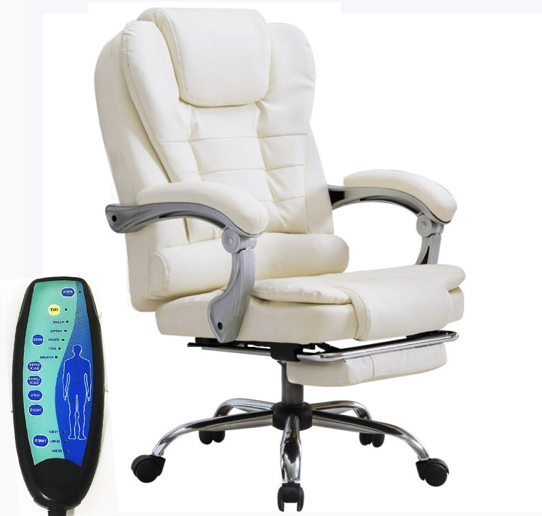 Apex Deluxe Executive Reclining Office Computer Chair With Foot In Well Known Executive Reclining Office Chairs (View 1 of 20)