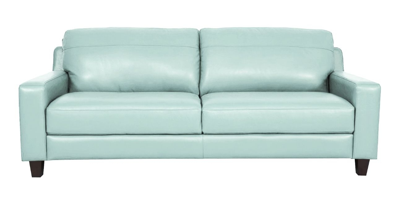 Aqua Leather Sofafutura (View 1 of 20)
