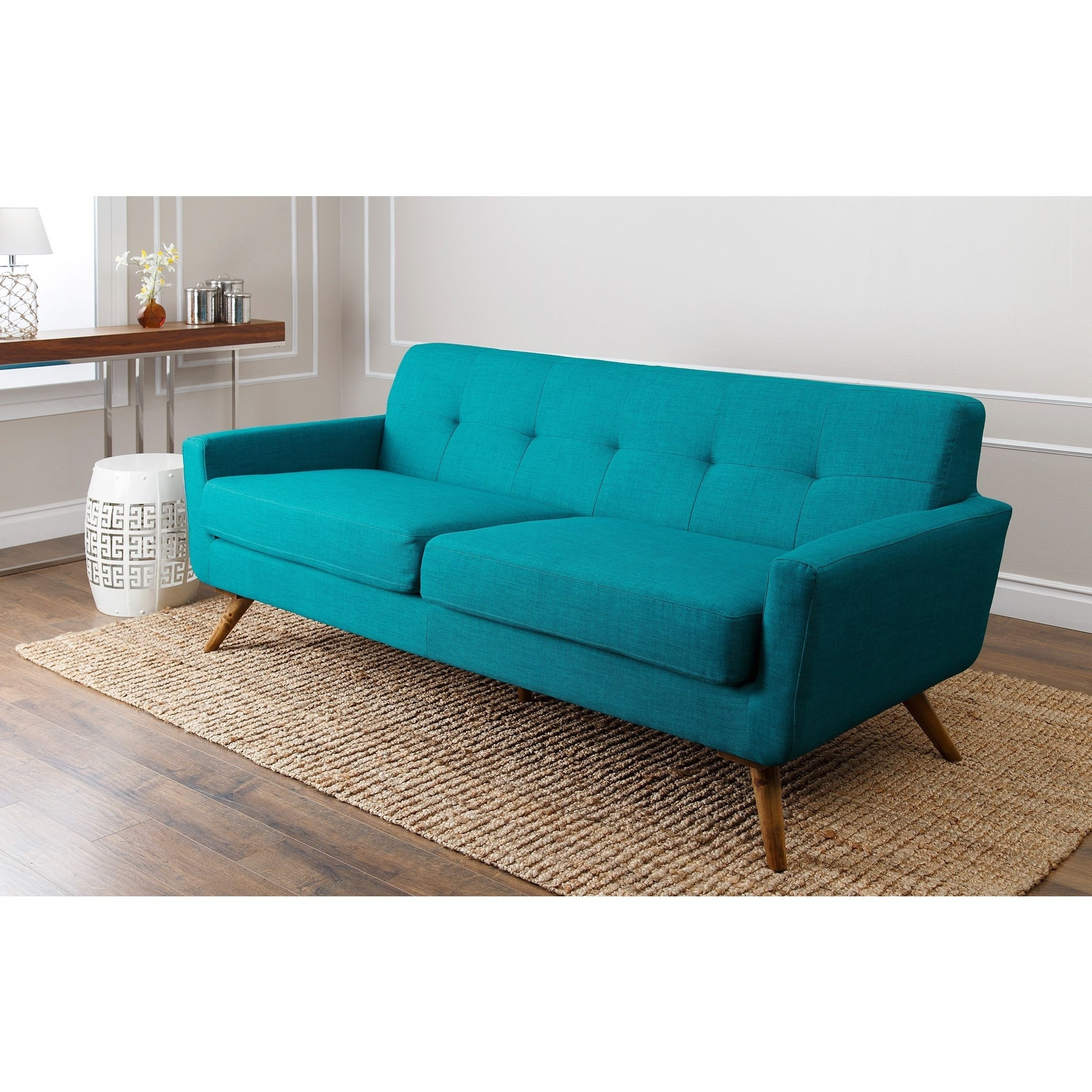 Aqua Sofas Regarding Famous Teal Tufted Sofa (View 3 of 20)
