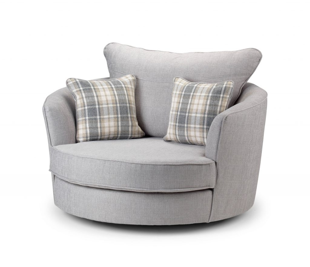 Armchair : Round Swivel Couch Cuddler Swivel Sofa Chair Round Sofa With Regard To Best And Newest Cuddler Swivel Sofa Chairs (View 2 of 20)