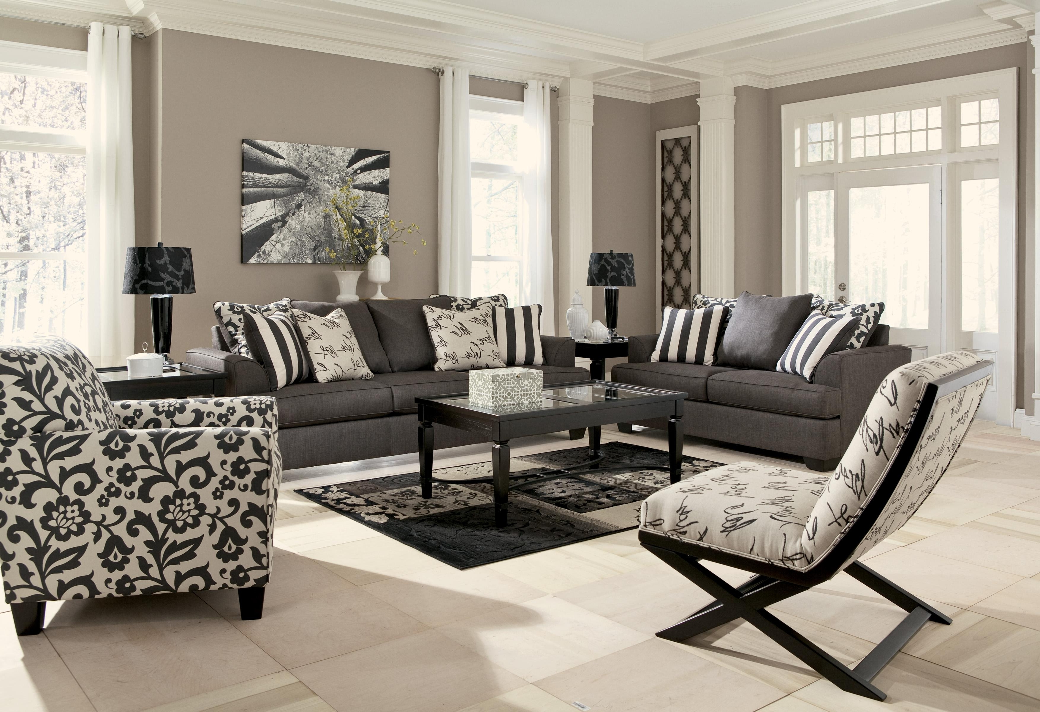 Armless Showood Accent Chair With Abstract Script Fabric For Fashionable Sofa And Accent Chair Sets (View 2 of 20)