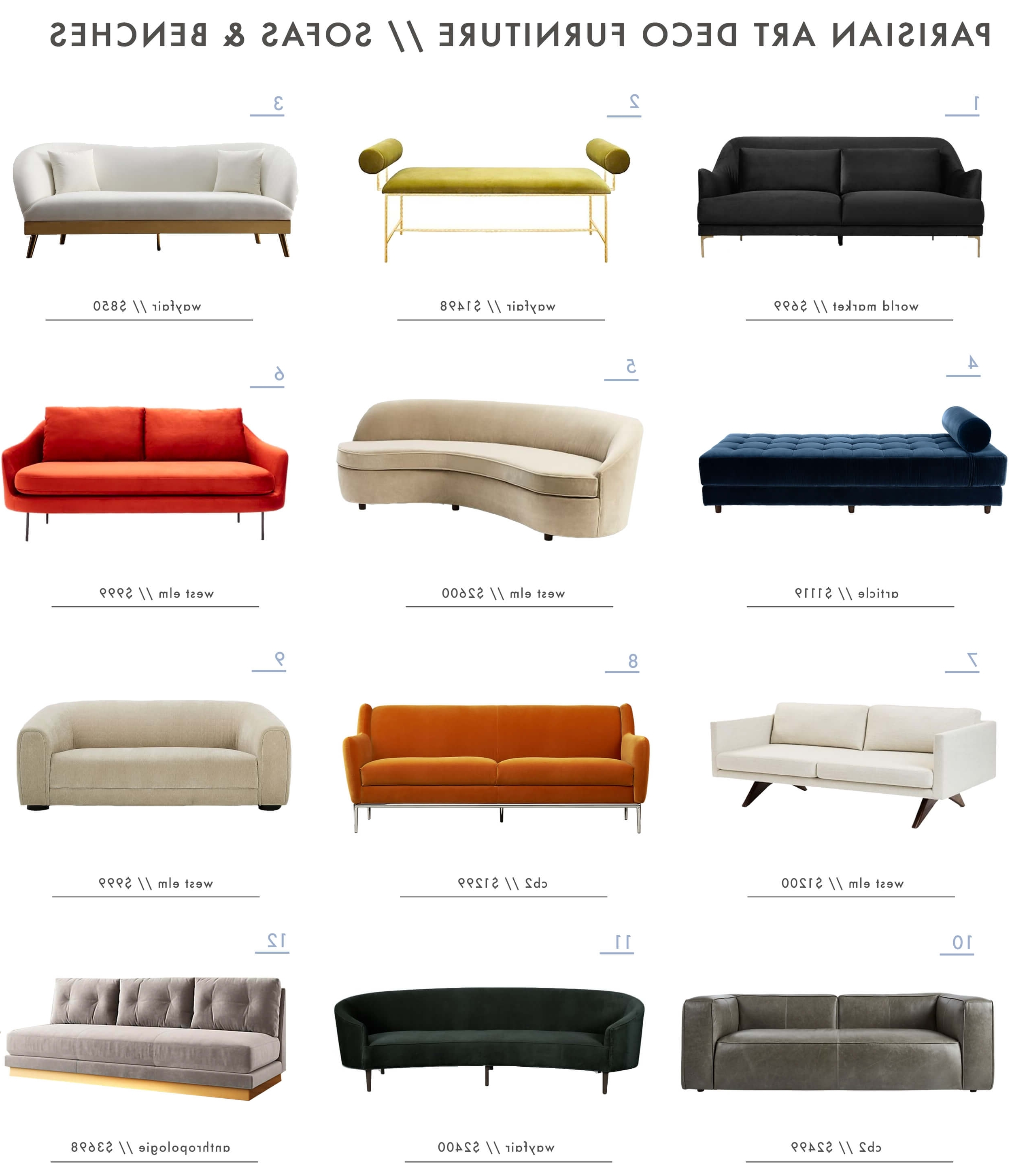 Art Deco Sofas In Fashionable Achieving The Parisian Art Deco Style: Furniture – Emily Henderson (View 15 of 20)